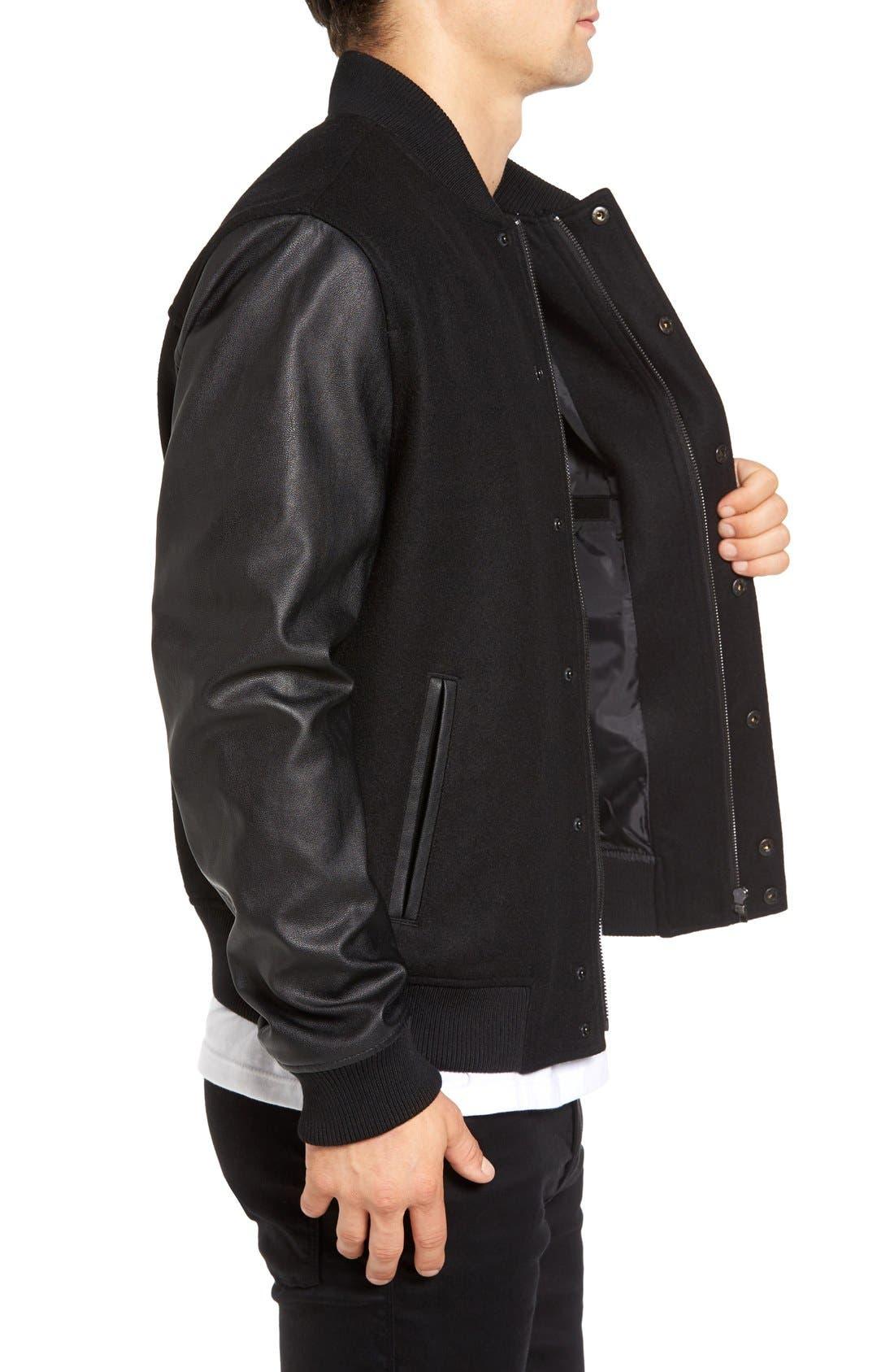 Alternate Image 3  - Topman Varsity Bomber Jacket