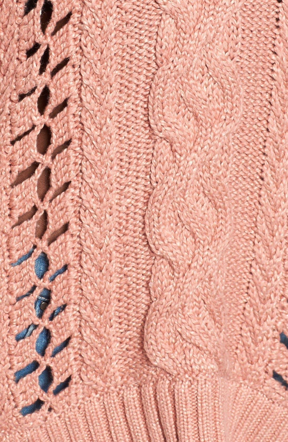 Alternate Image 5  - For Love & Lemons Wythe Openwork Bell Sleeve Sweater