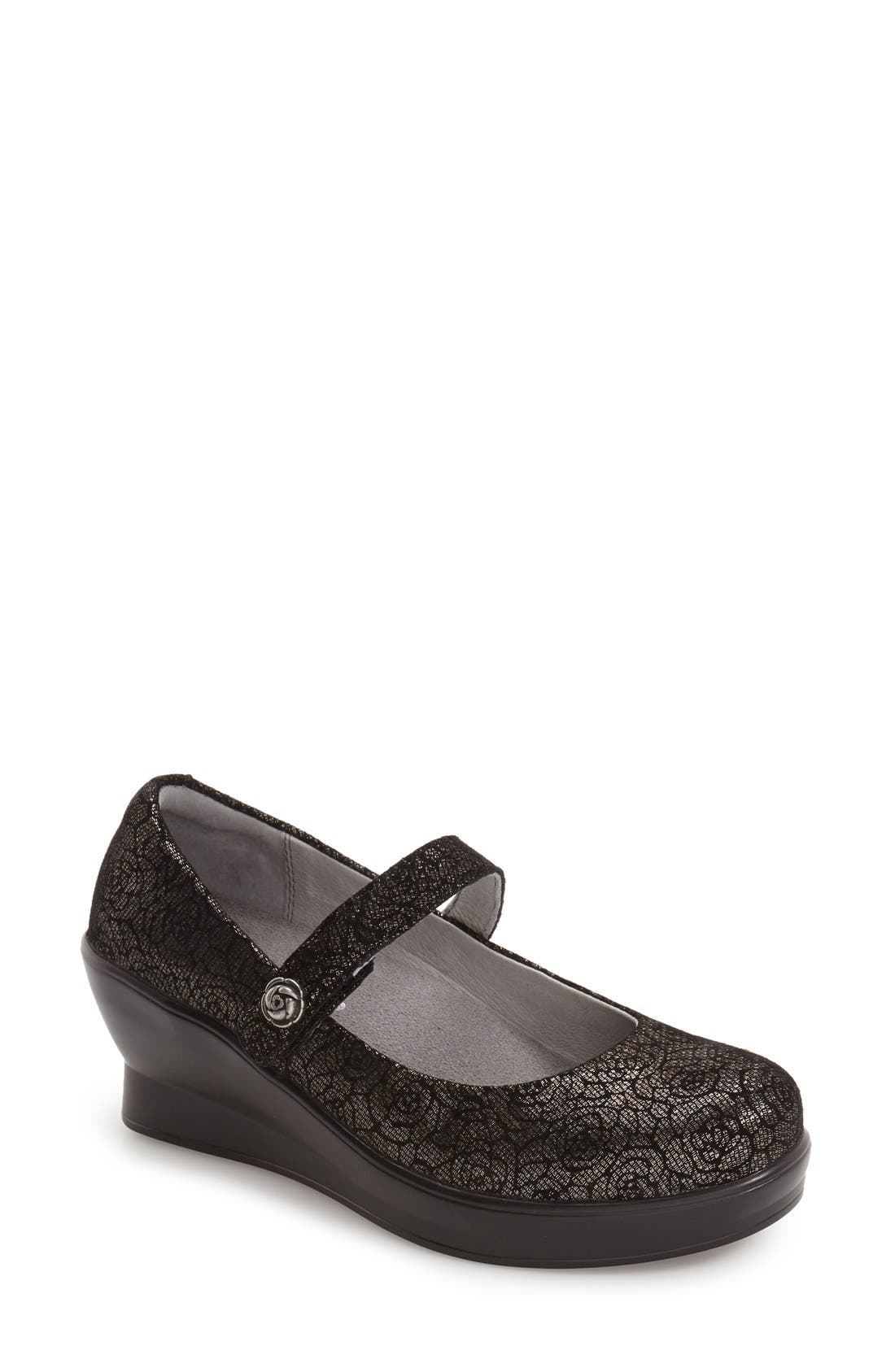 ALEGRIA 'Flare' Mary Jane Wedge