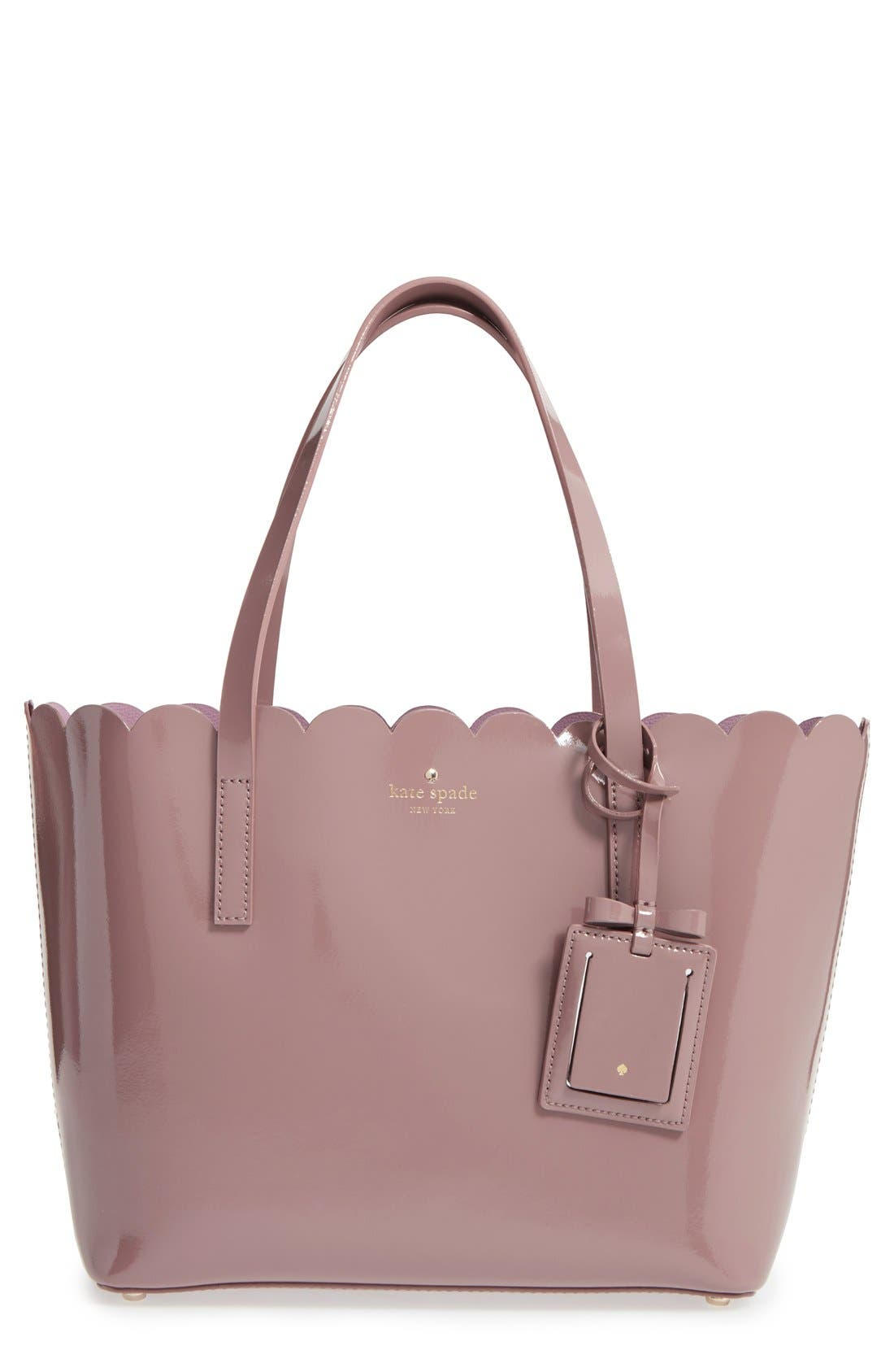 Alternate Image 1 Selected - kate spade new york 'lily avenue patent - small carrigan' leather tote