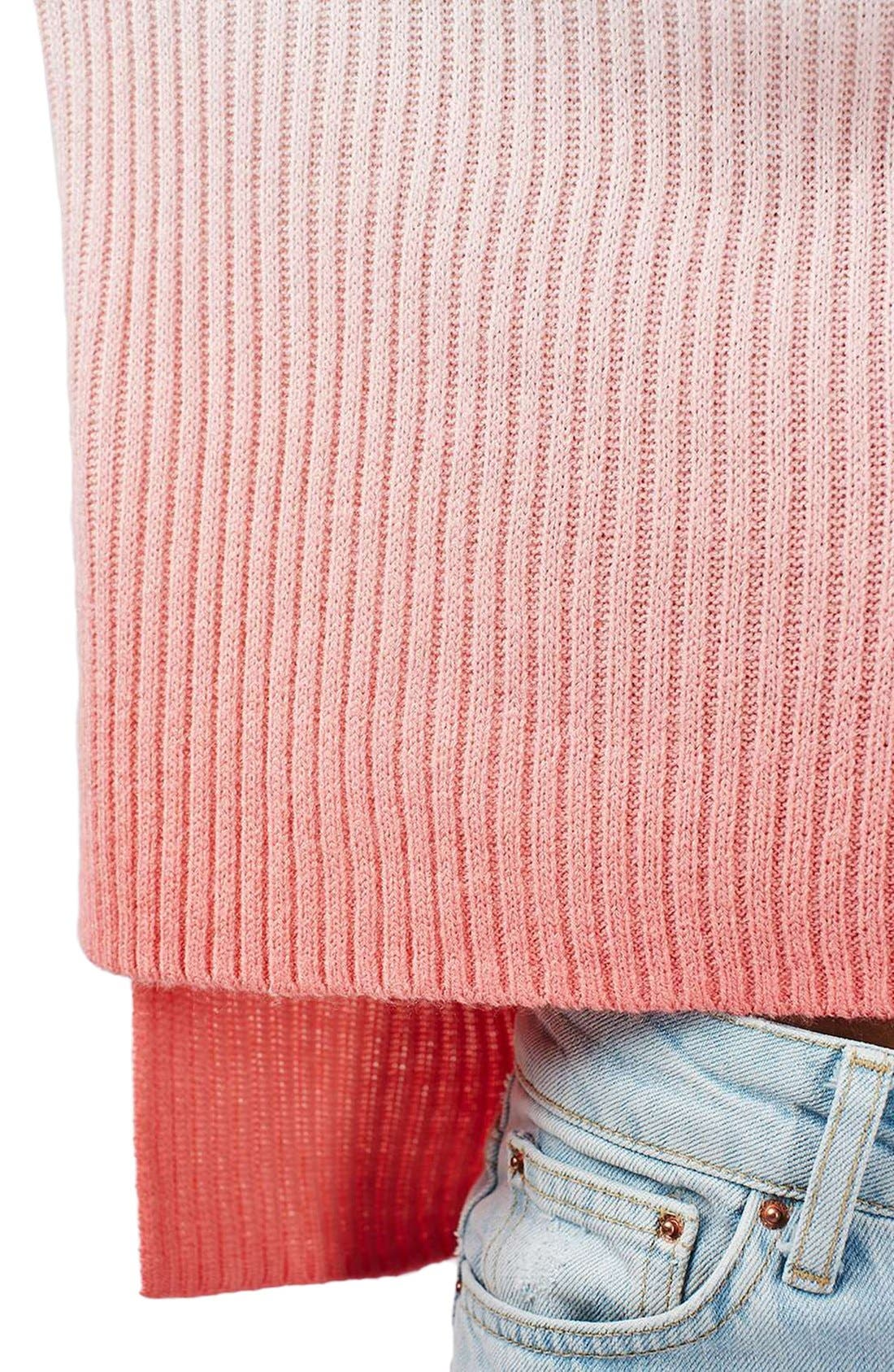 Alternate Image 5  - Topshop Dip Dye V-Neck Sweater