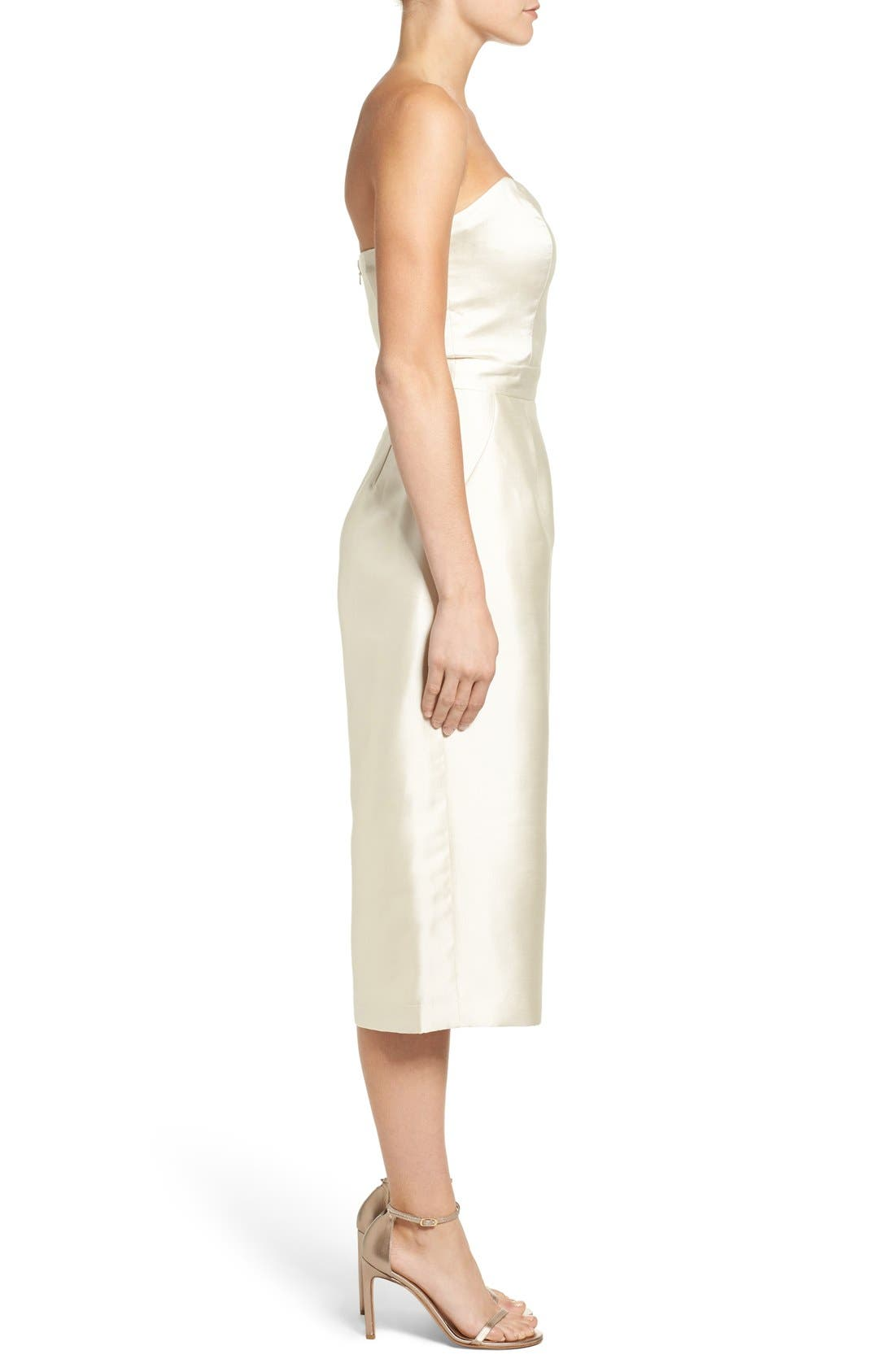 Alternate Image 3  - Paper Crown Milan Strapless Culotte Jumpsuit