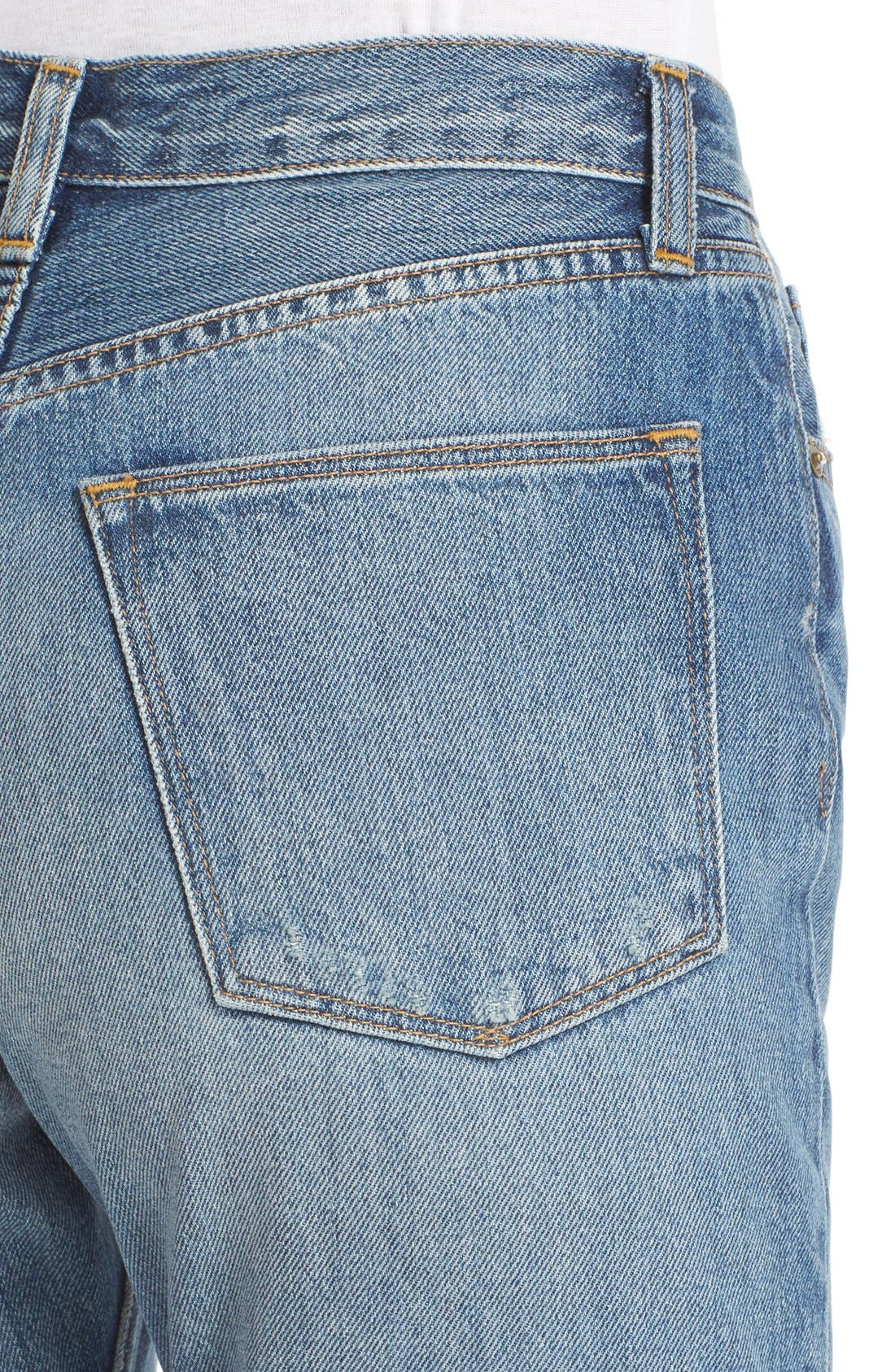 Alternate Image 4  - Vince Vintage Straight Leg Crop Jeans (Calico)