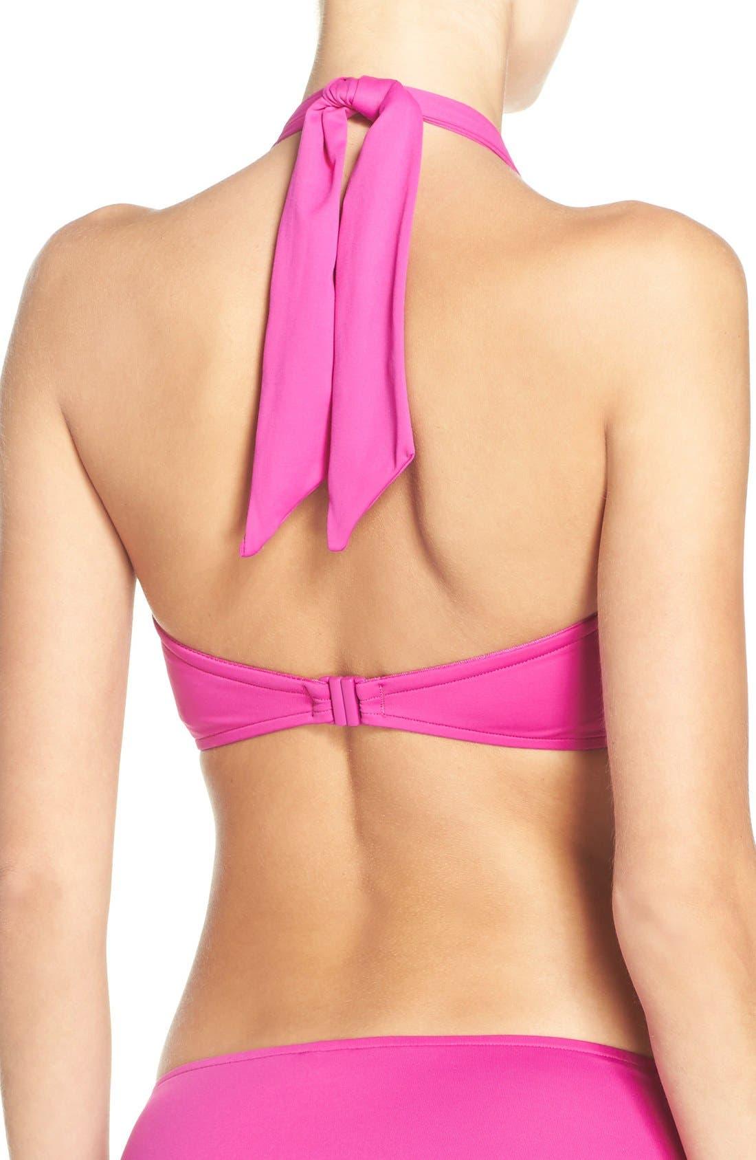 Alternate Image 2  - Seafolly Halter Bikini Top