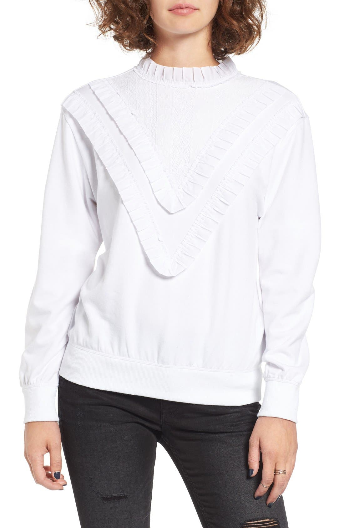 Alternate Image 1 Selected - BP. Ruffle Front Sweatshirt