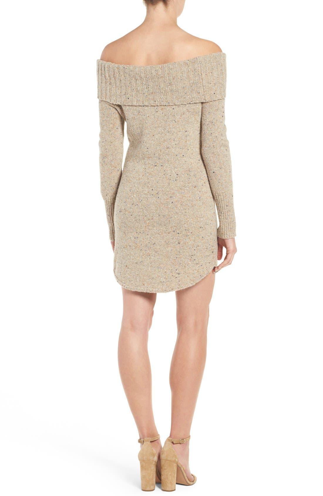 Alternate Image 2  - Rebecca Minkoff Erid Off the Shoulder Sweater Dress