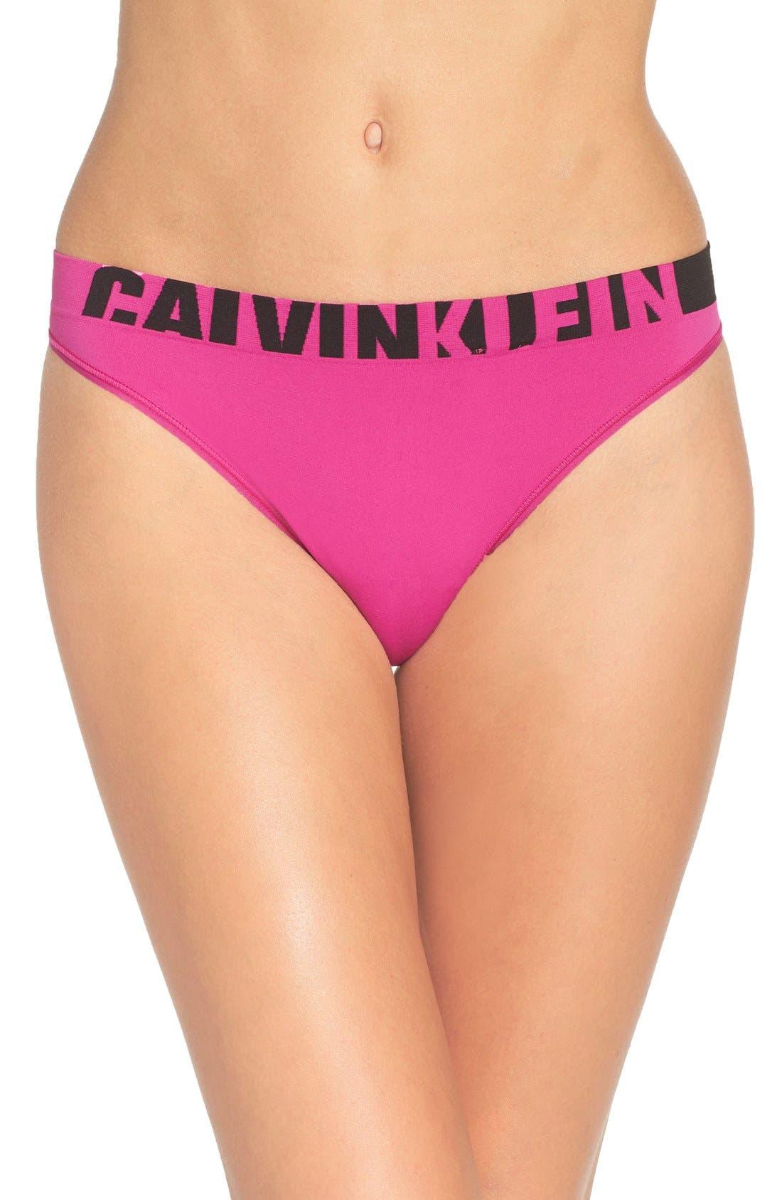 Main Image - Calvin Klein Seamless Logo Thong