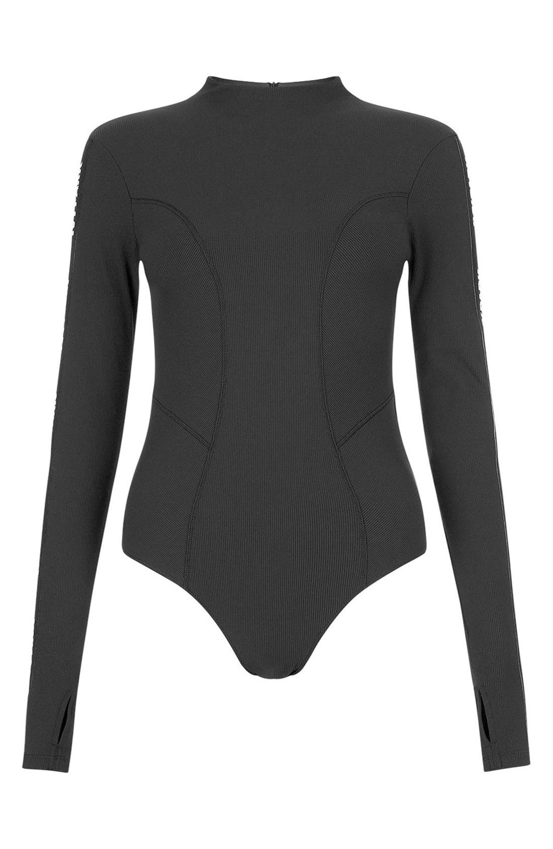 Alternate Image 5  - IVY PARK® Elastic Logo Sleeve Bodysuit