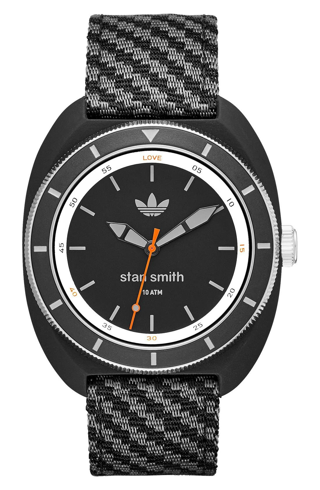 ADIDAS Stan Smith Woven Strap Watch, 42mm