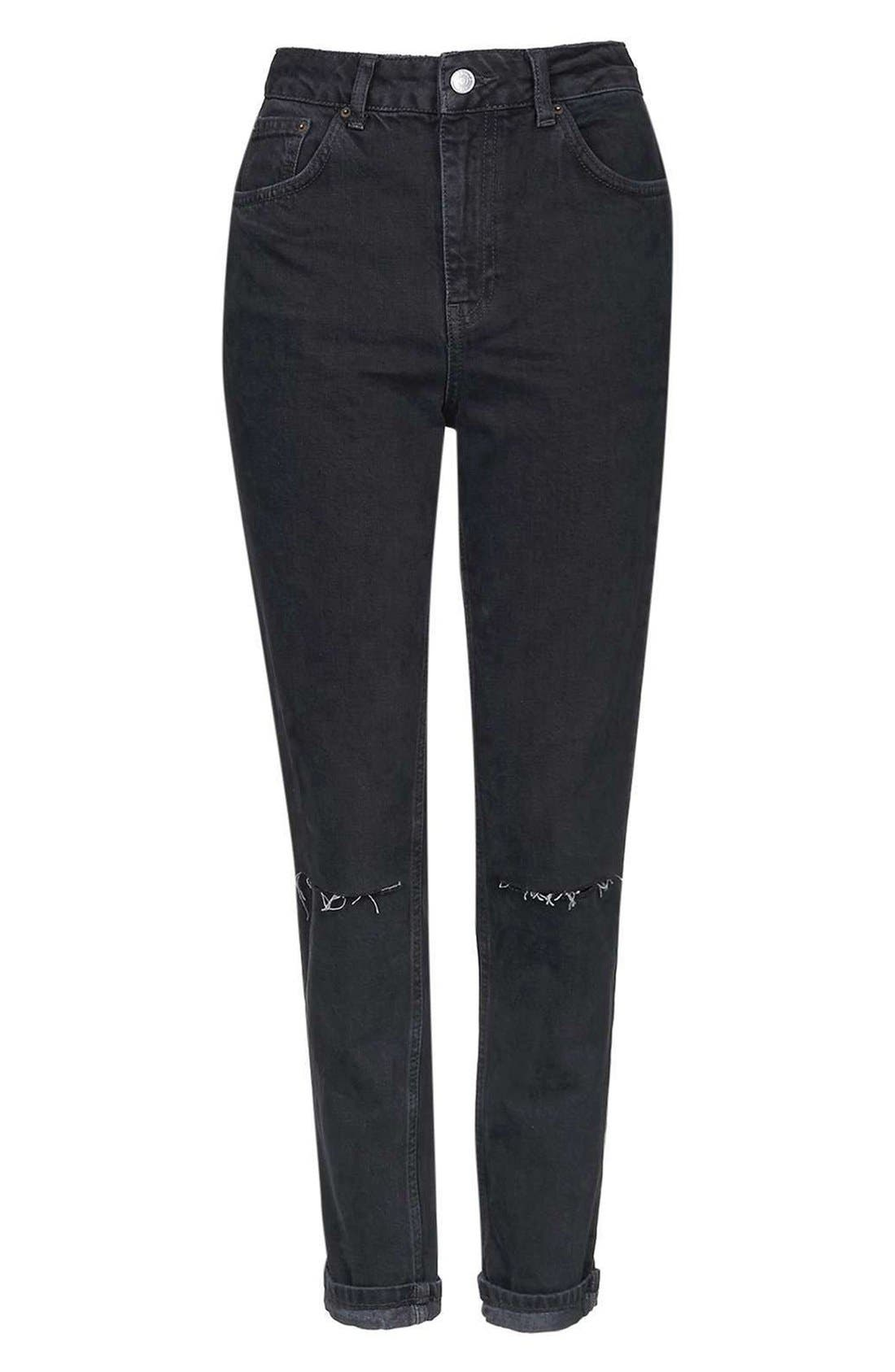 Alternate Image 5  - Topshop Moto Mom Washed Ripped Jeans