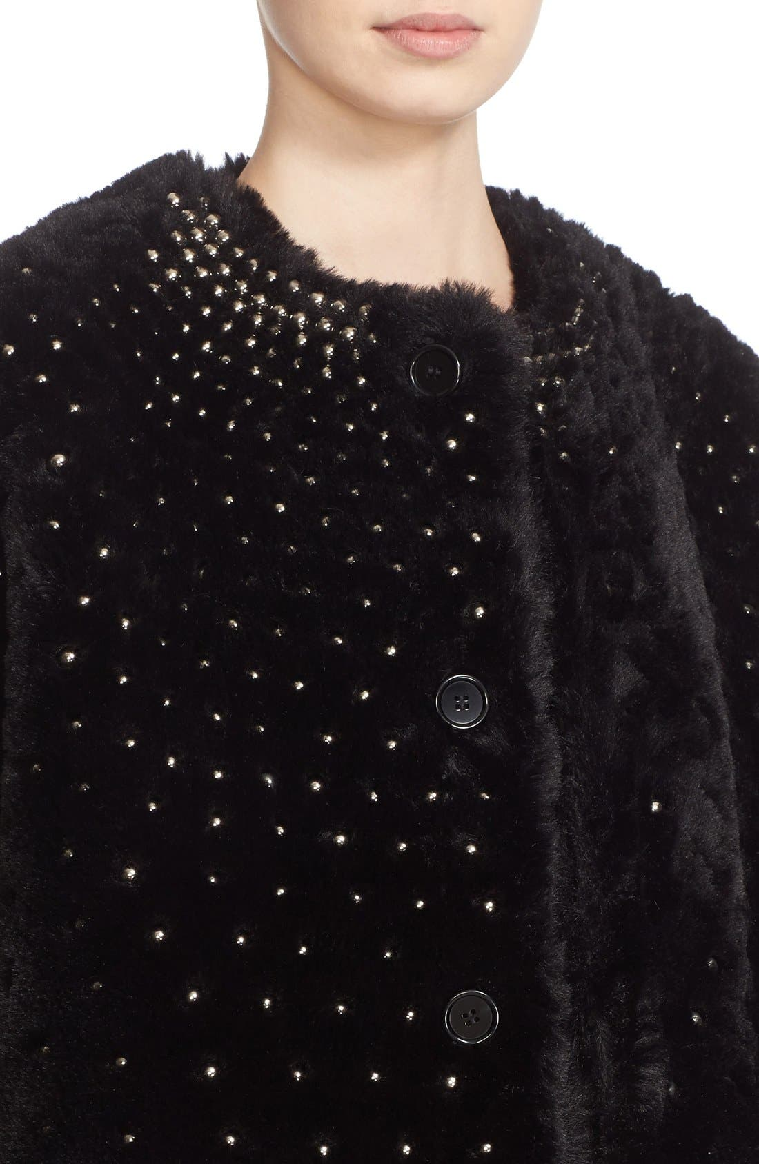Alternate Image 6  - noir kei ninomiya Studded Faux Fur Coat