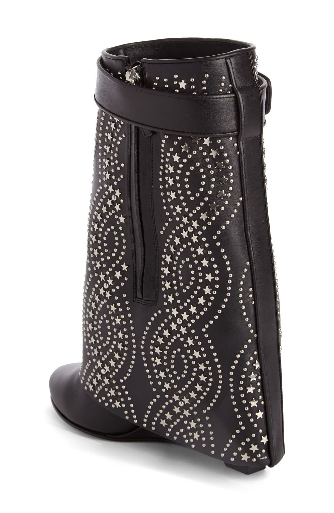 Alternate Image 2  - Givenchy Studded Shark Tooth Pant Leg Bootie (Women)