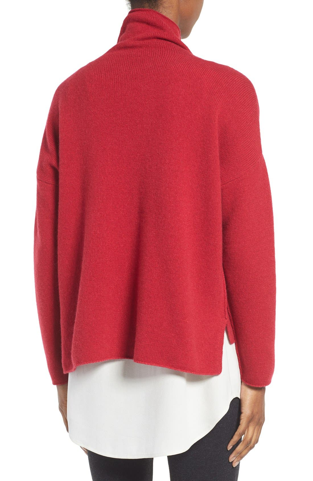 Alternate Image 2  - Eileen Fisher Recycled Cashmere & Lambswool Sweater