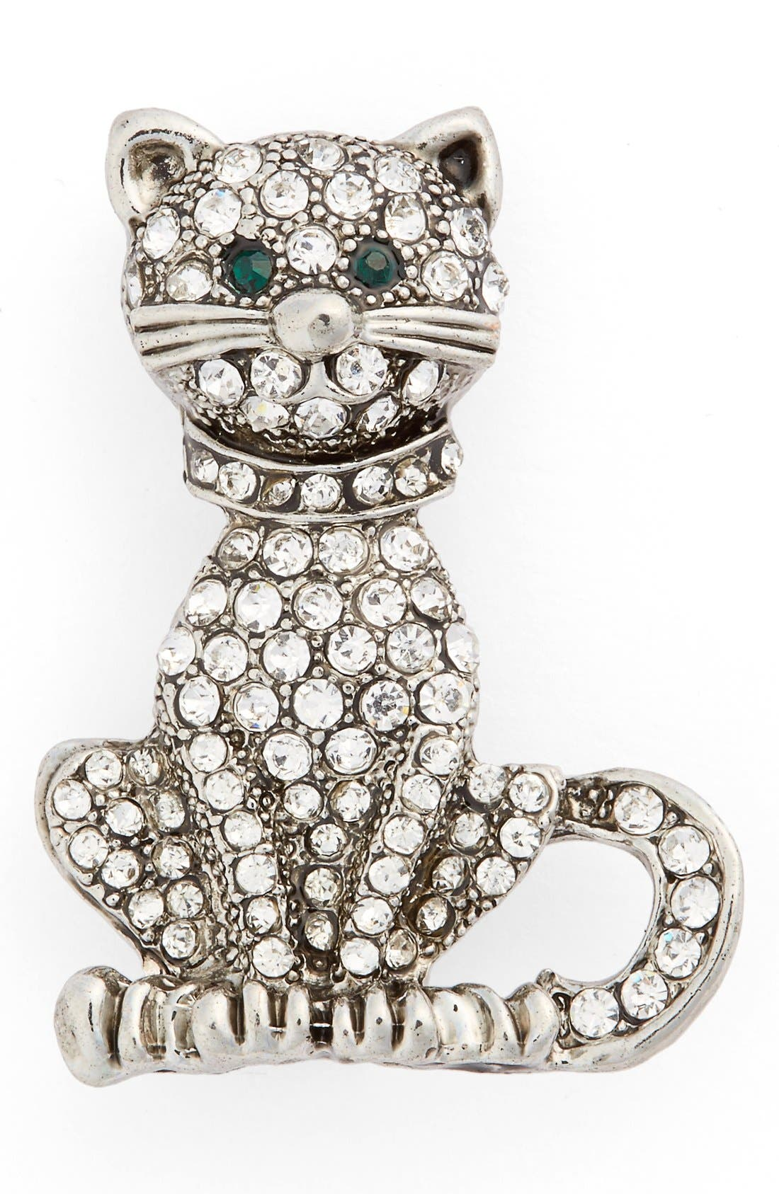 Alternate Image 1 Selected - Cara Crystal Cat Pin