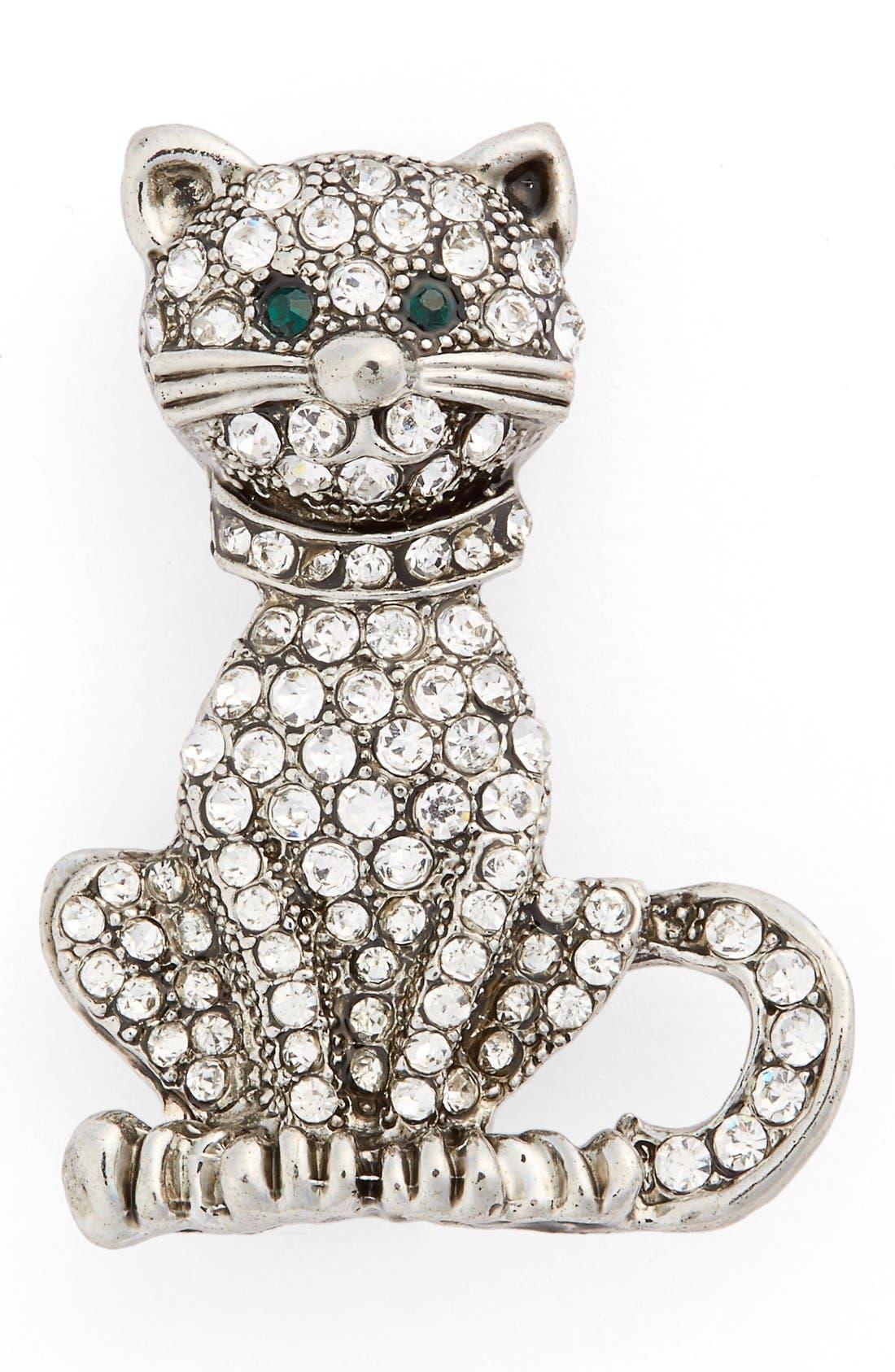 Main Image - Cara Crystal Cat Pin
