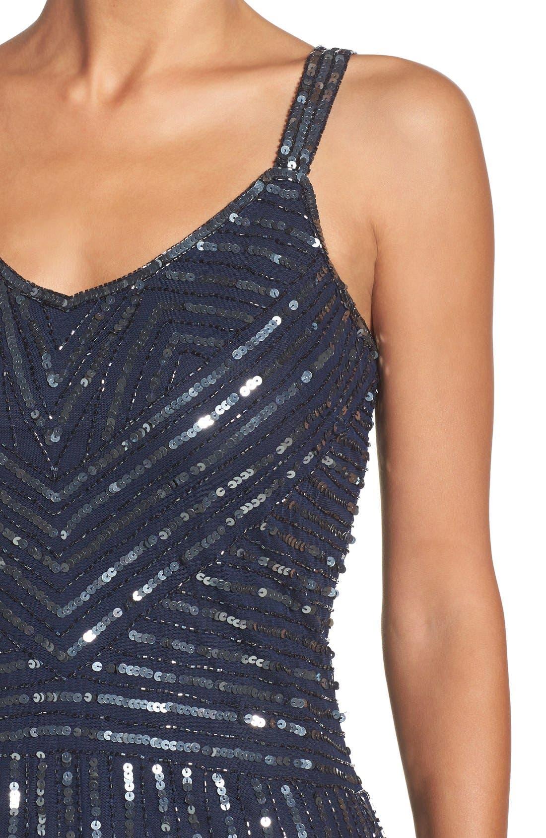 Alternate Image 4  - Pisarro Nights Embellished Mesh Fit & Flare Dress
