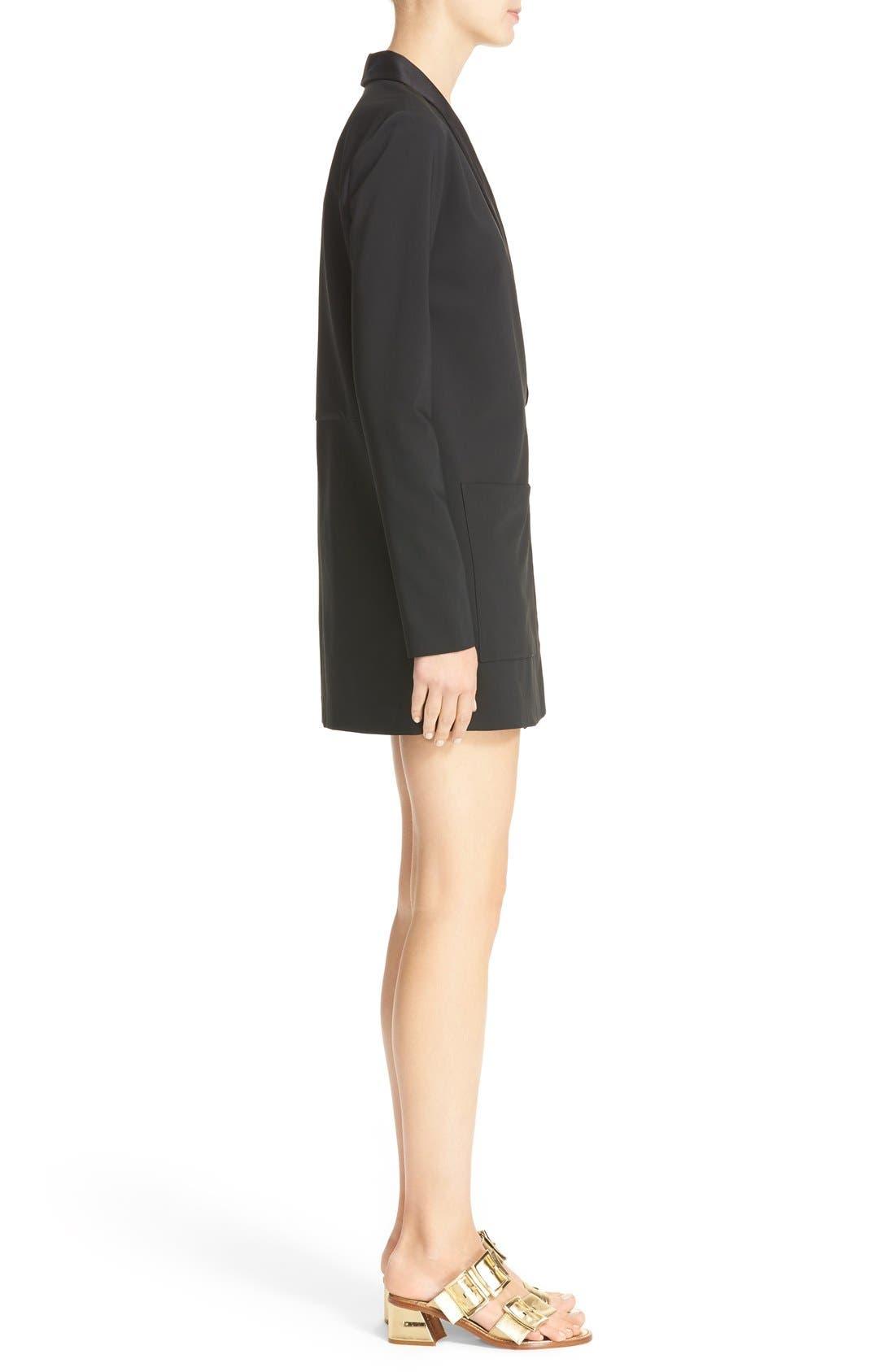 Alternate Image 3  - Tibi Satin Lapel Tuxedo Dress