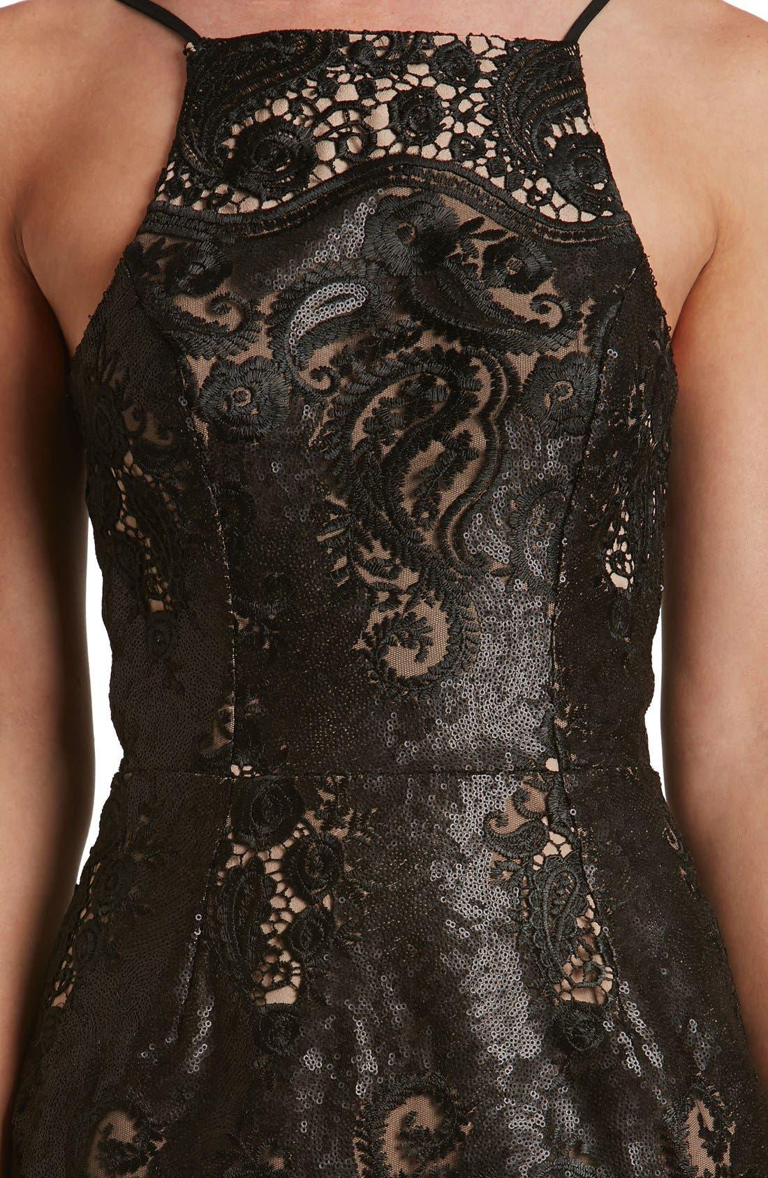 Alternate Image 6  - Dress the Population Julie Sequin Lace Sheath Dress