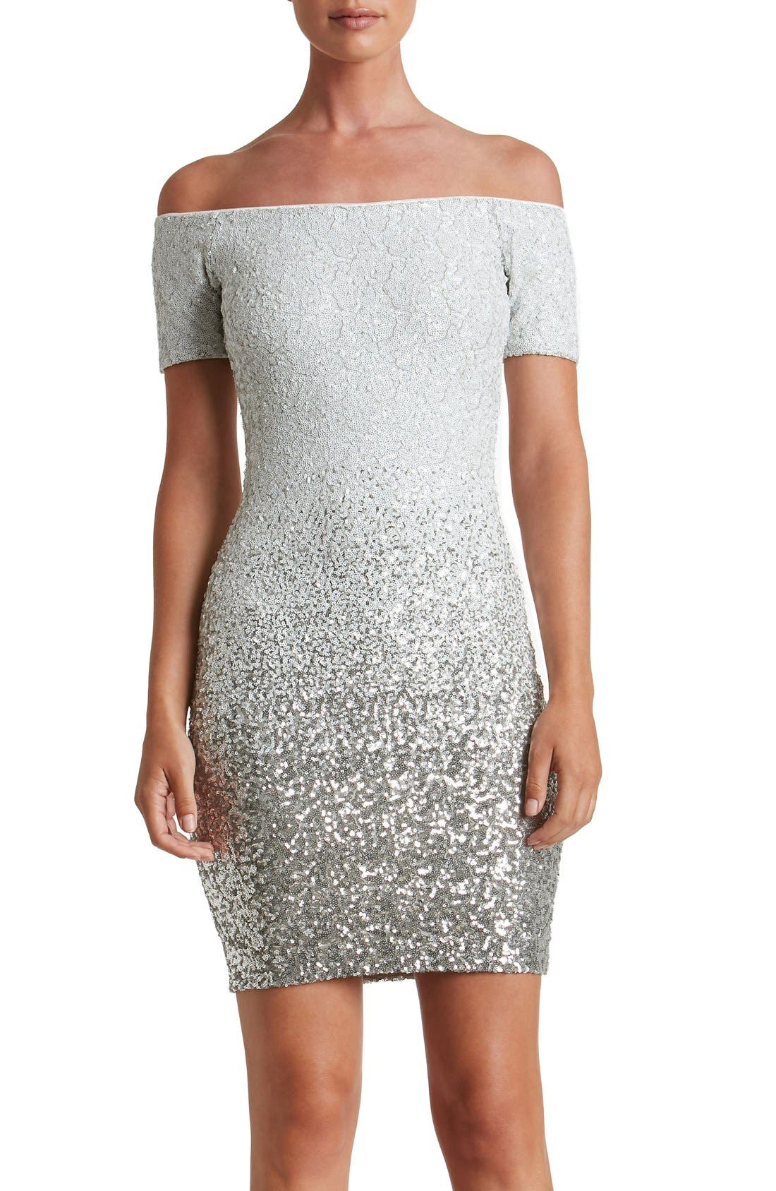 Main Image - Dress the Population Larissa Sequin Minidress