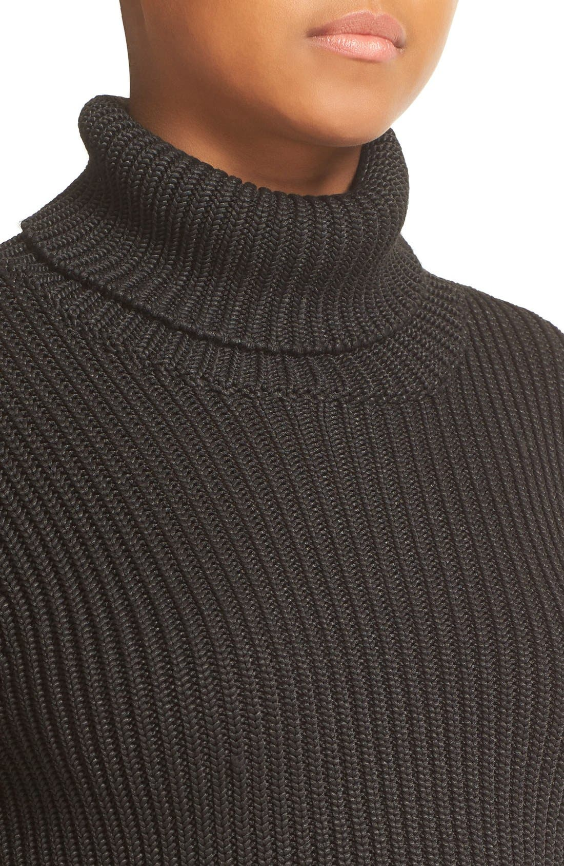 Alternate Image 4  - Alice + Olivia Sierra Crop Rib Knit Turtleneck