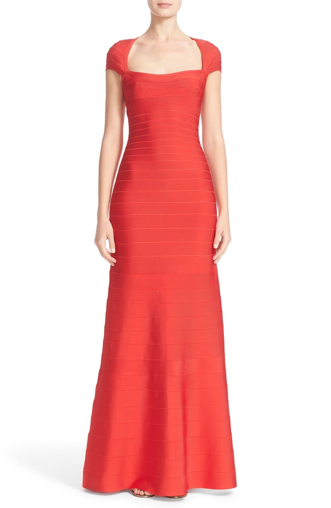 HERVE LEGER Open Back Bandage Gown