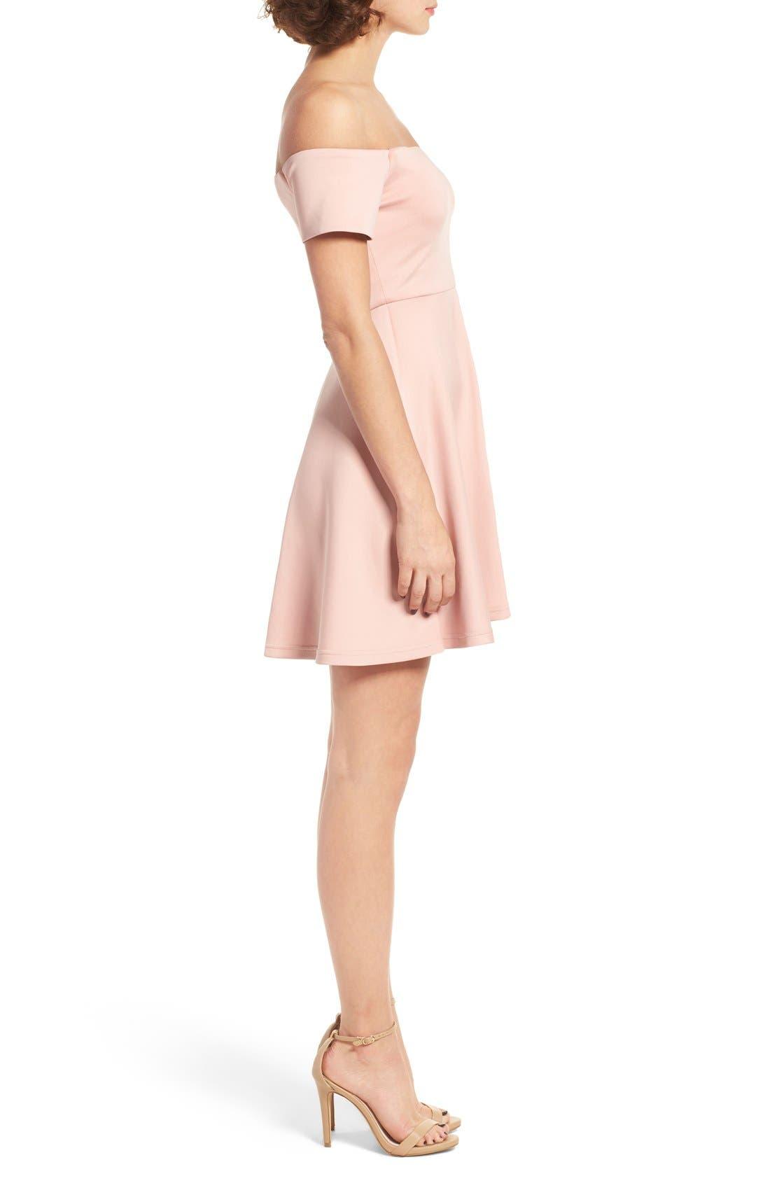 Alternate Image 3  - Cream & Sugar Sweetheart Off the Shoulder Dress