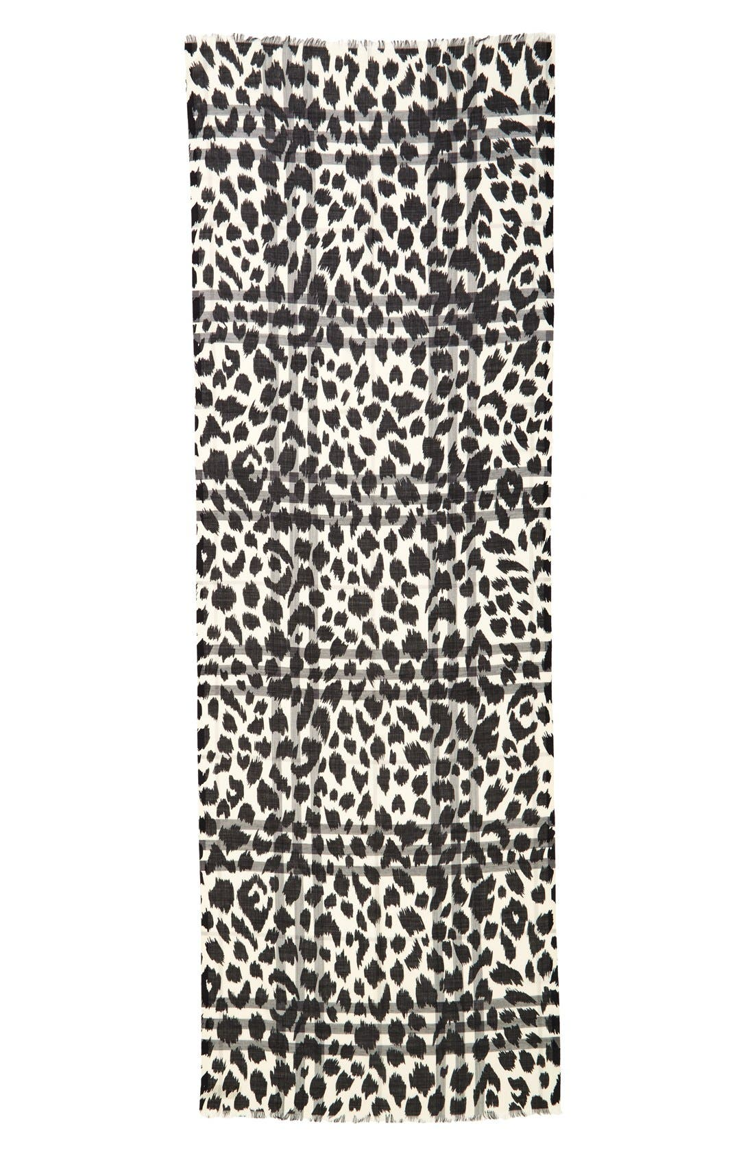 Alternate Image 2  - Burberry Animal Print Mulberry Silk & Wool Scarf