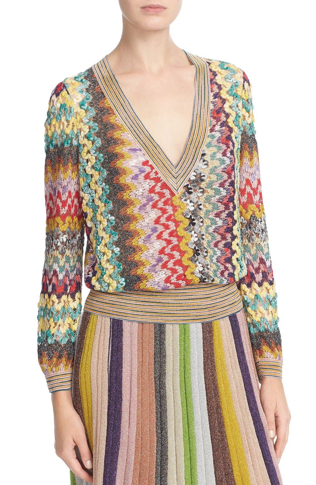 Alternate Image 6  - Missoni Metallic Knit Sweater