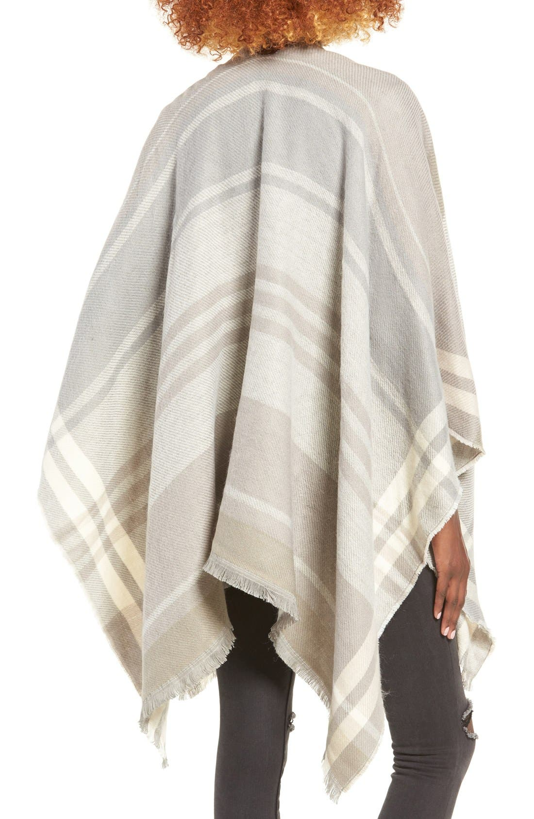 Alternate Image 2  - La Double 7 Plaid Poncho