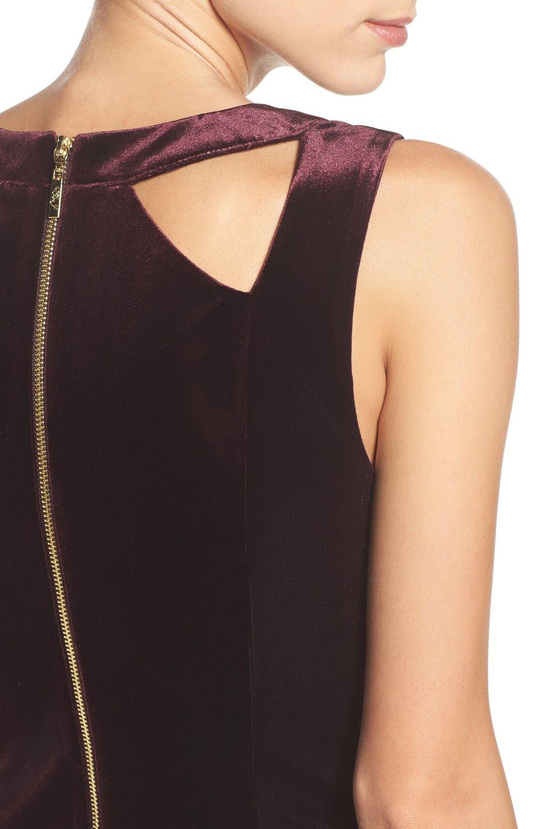 Alternate Image 5  - Eliza J Velvet Cutout Sheath Dress