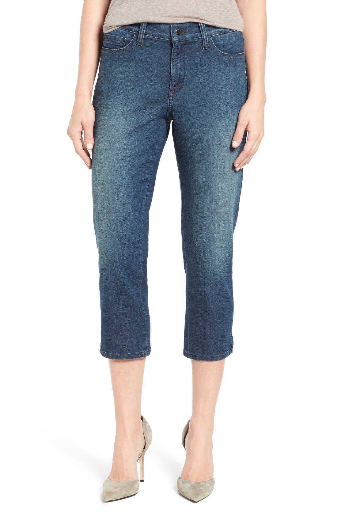 NYDJ Alina Stretch Capri Jeans (Nottingham) (Regular & Petite)