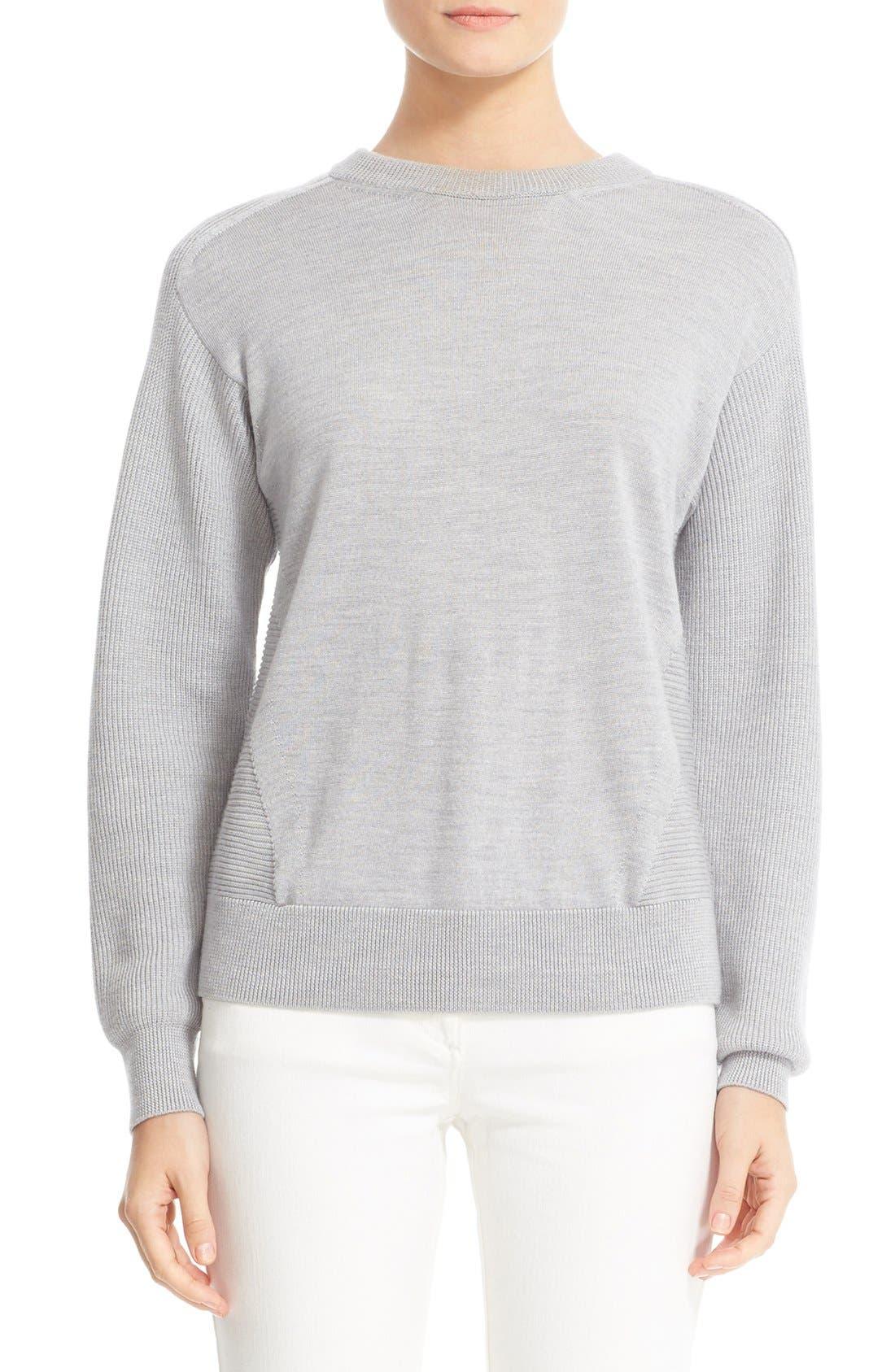 BELSTAFF Samantha Rib Inset Merino Wool Blend Sweater