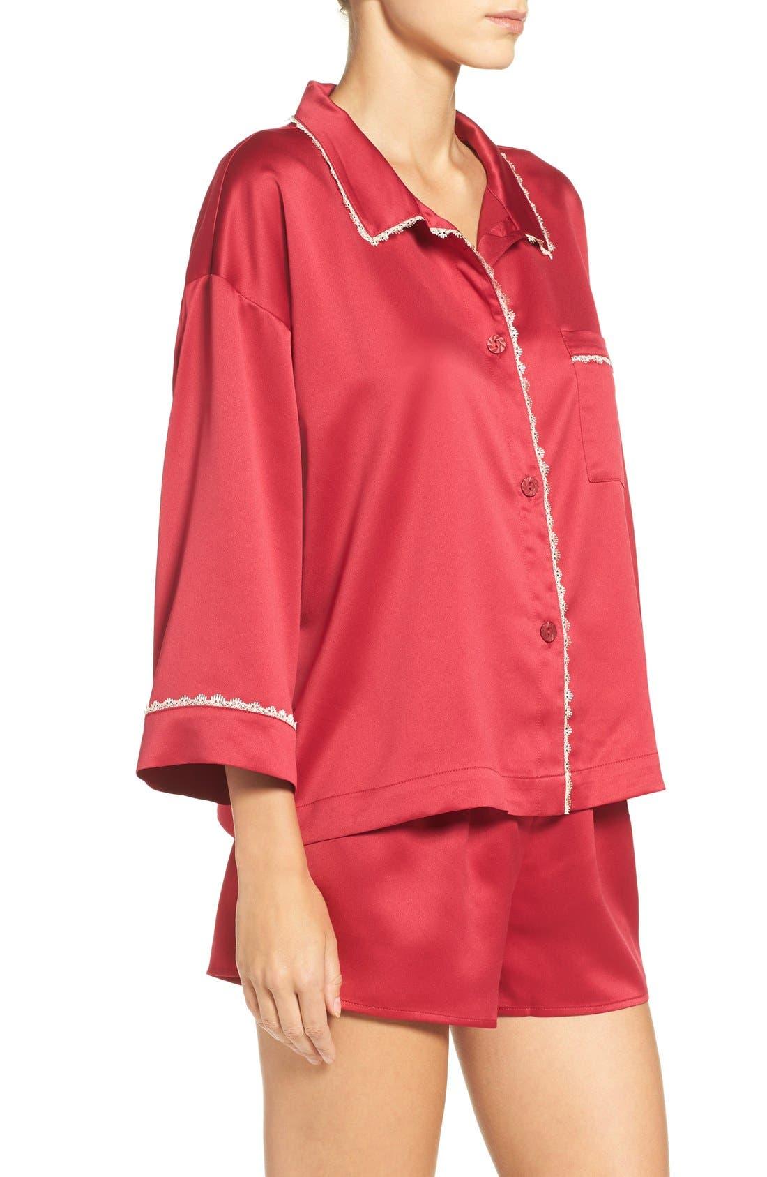 Alternate Image 3  - Flora Nikrooz Wisteria Satin Pajamas