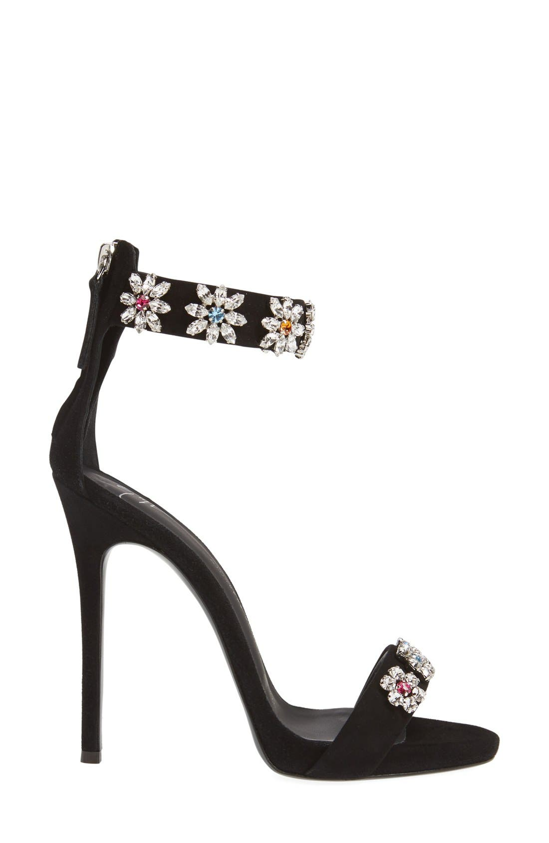 Alternate Image 4  - Giuseppe Zanotti Crystal Embellished Strappy Sandal (Women)