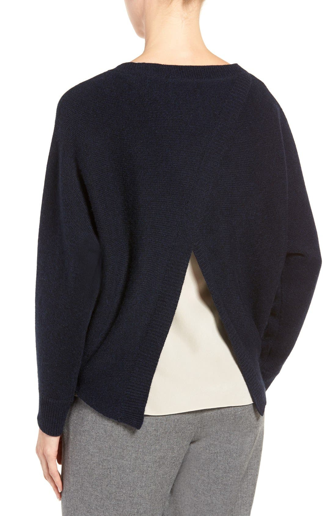 Alternate Image 2  - Nordstrom Collection Cross Back Cashmere Sweater
