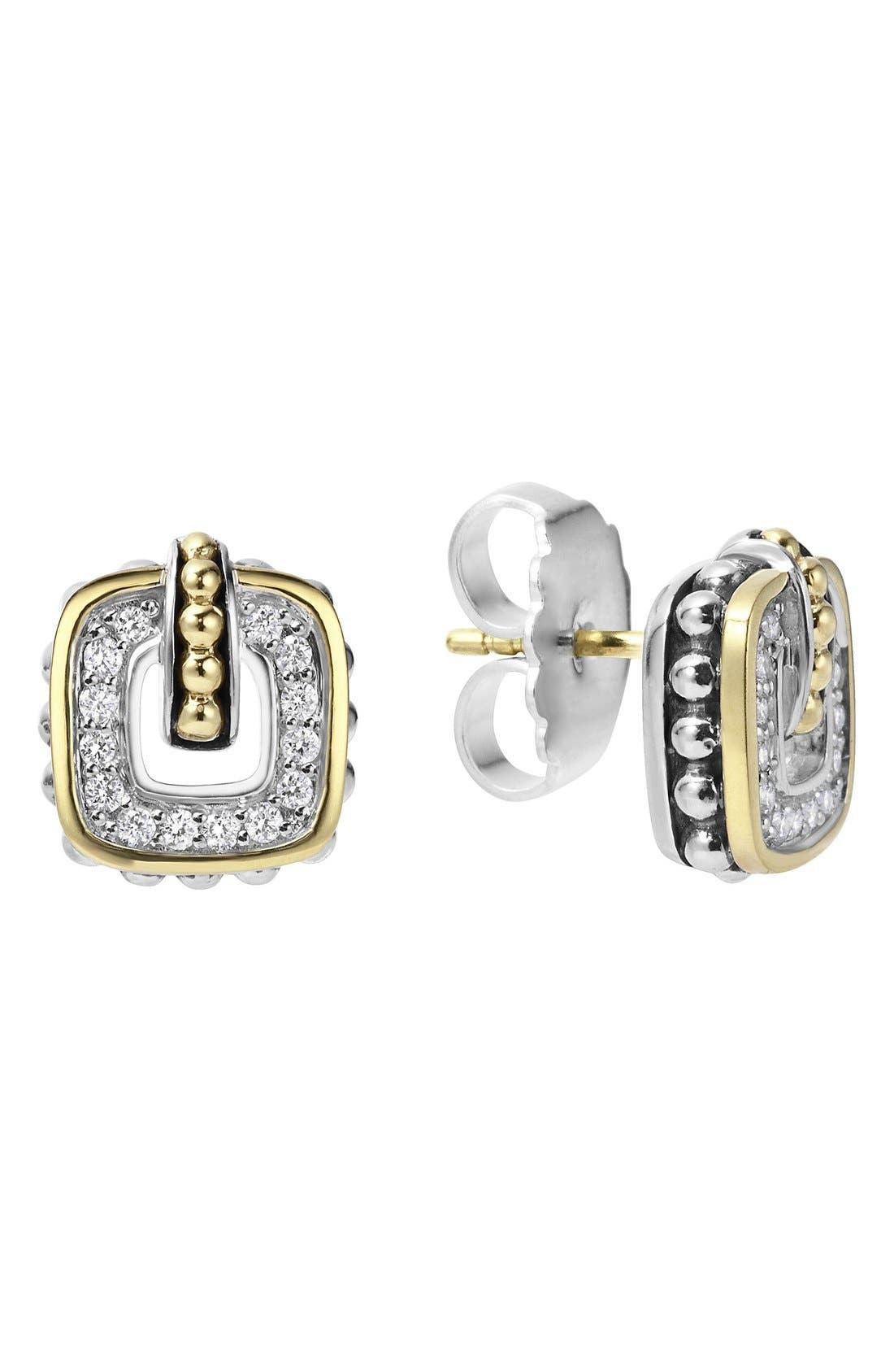 LAGOS 'Cushion' Stud Earrings