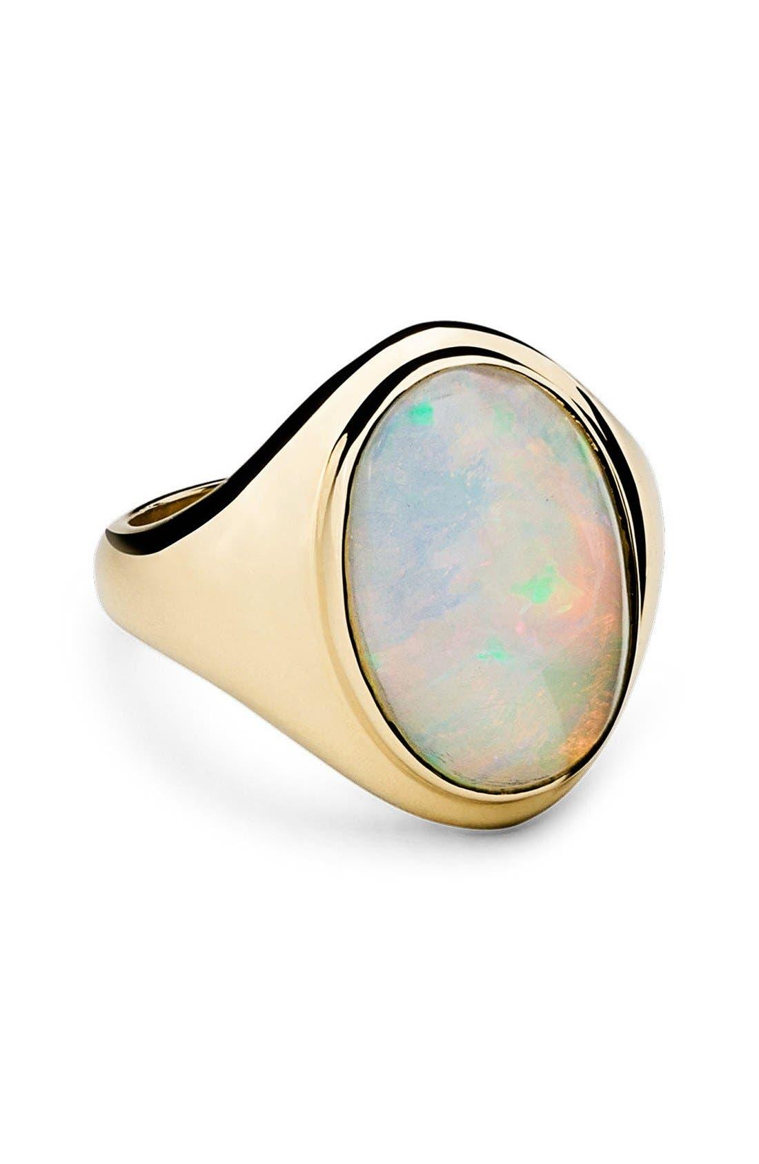 Alternate Image 1 Selected - Shinola Opal Signet Ring