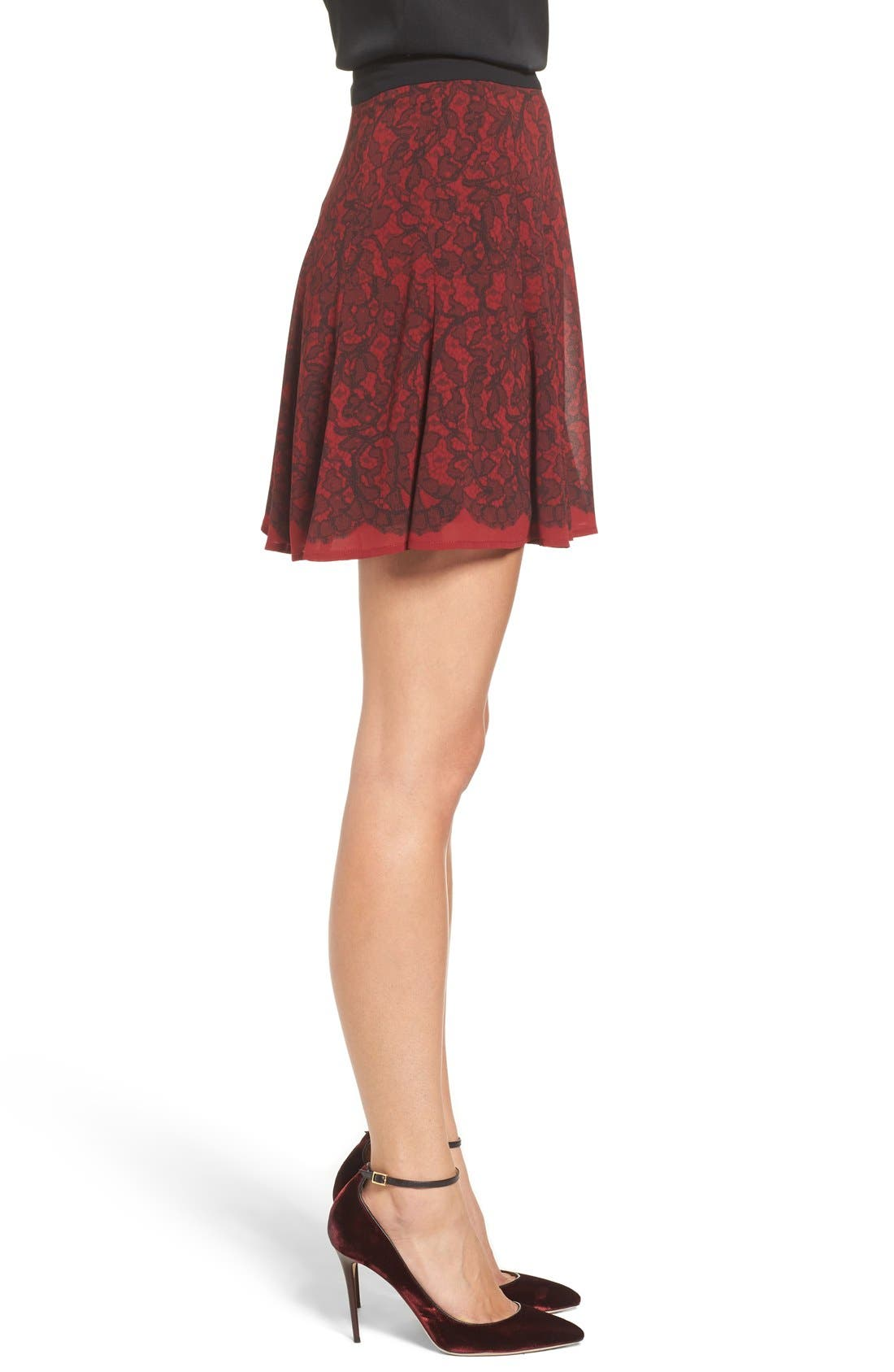Alternate Image 3  - MICHAEL Michael Kors Umbria Lace Panel Flare Skirt