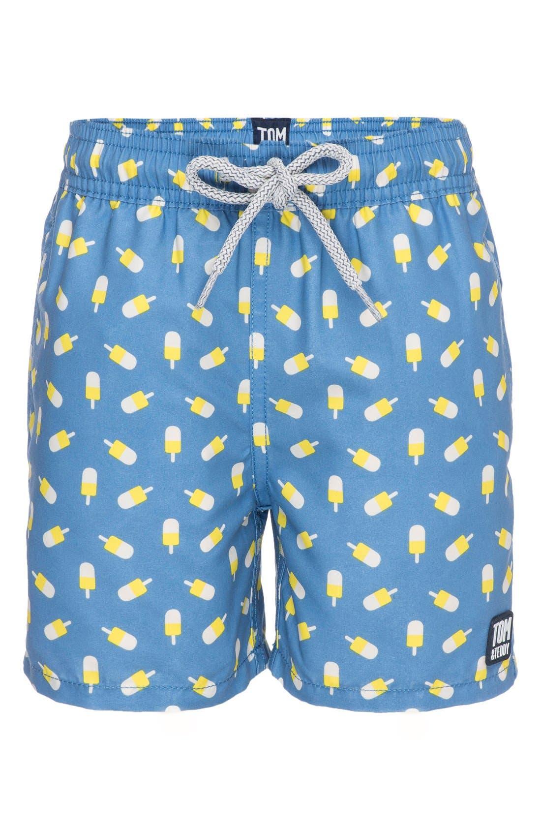 Tom & Teddy Ice Lollies Swim Trunks (Toddler Boys, Little Boys & Big Boys)