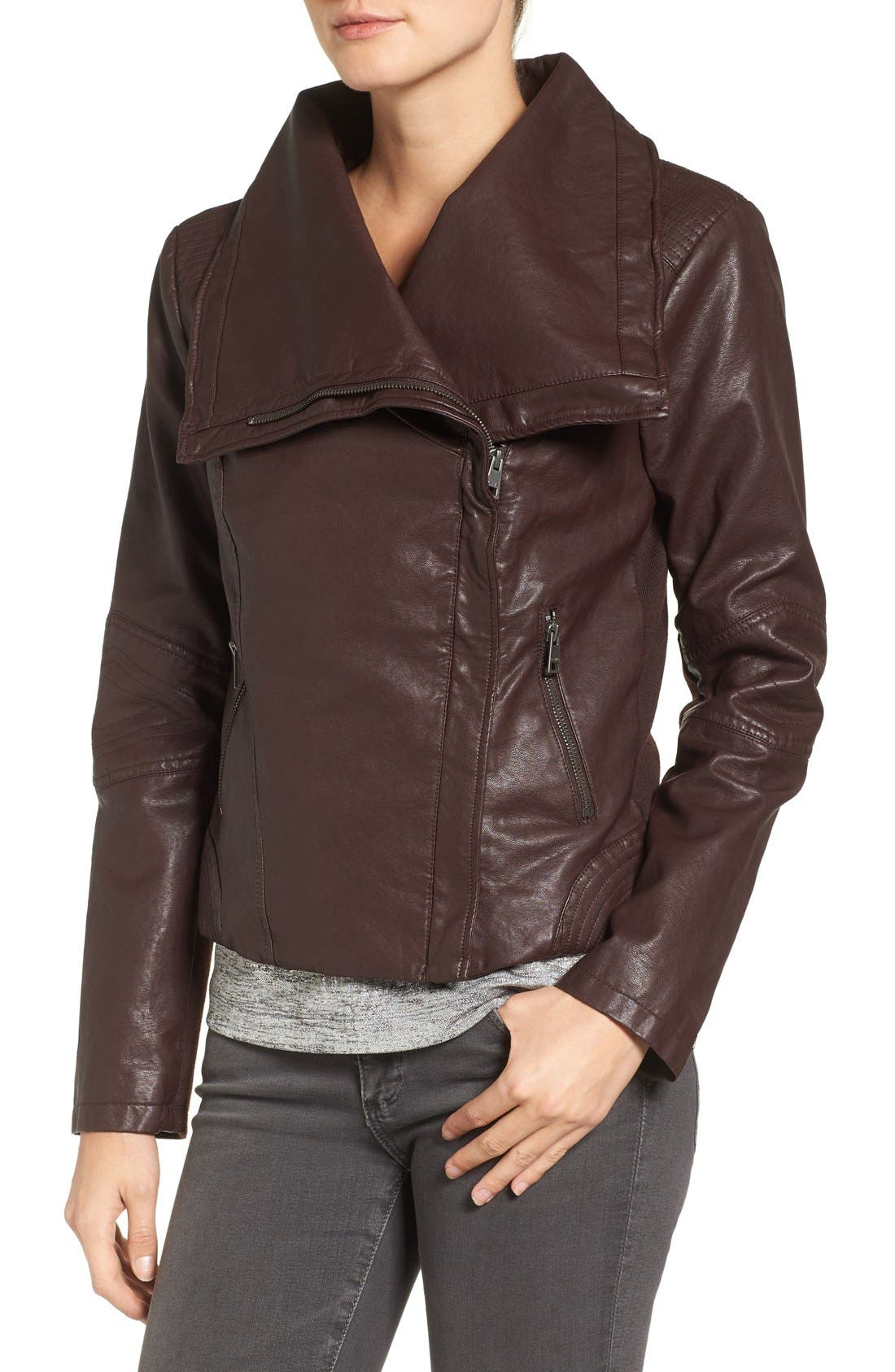 Alternate Image 4  - Levi's® Cowl Neck Faux Leather Jacket