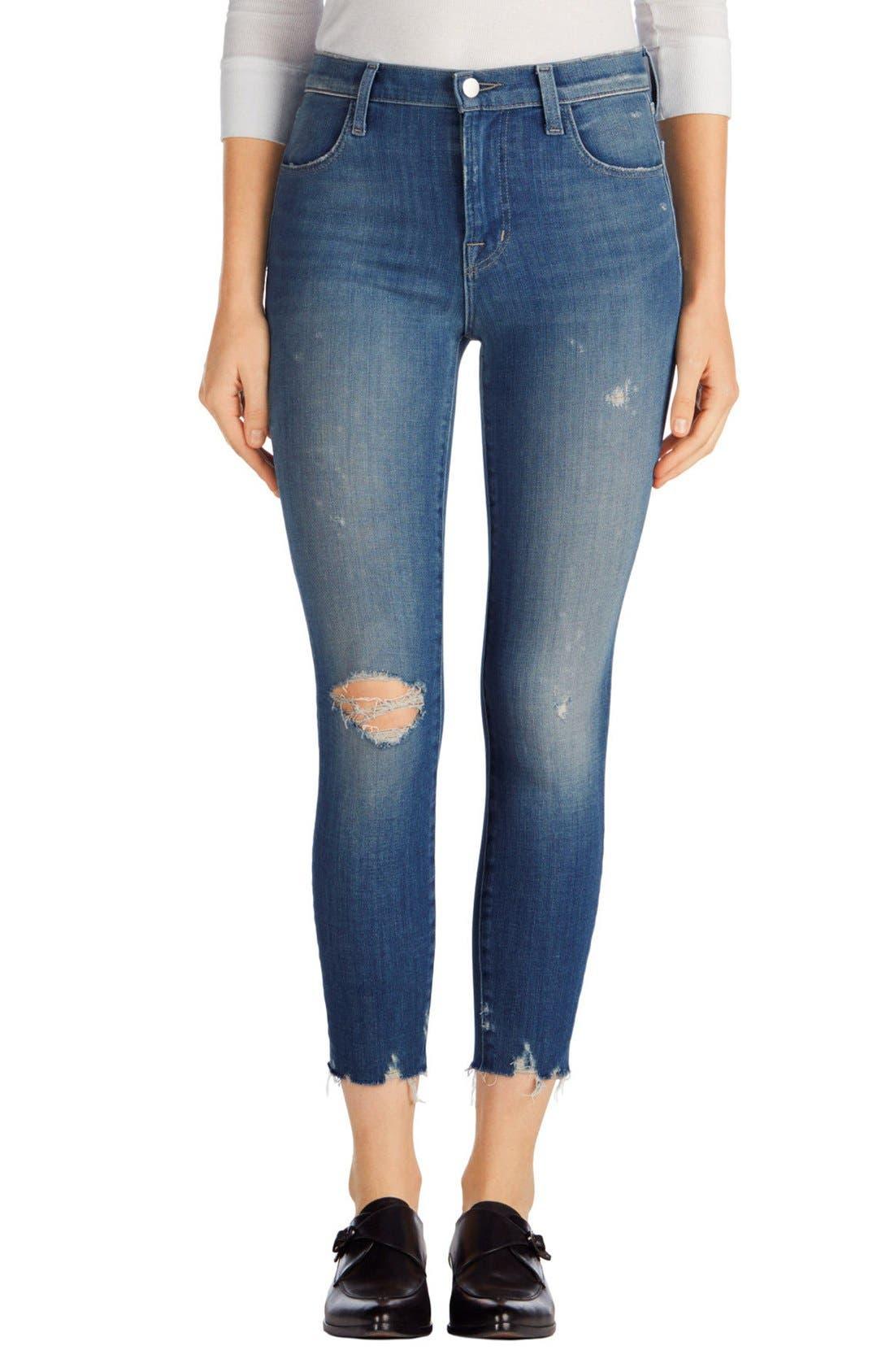 J Brand Alana High Waist Crop Skinny Jeans (Fantasy)