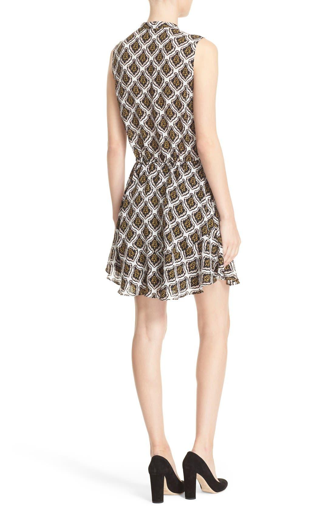 Alternate Image 2  - A.L.C. Calder Print Silk Fit & Flare Dress