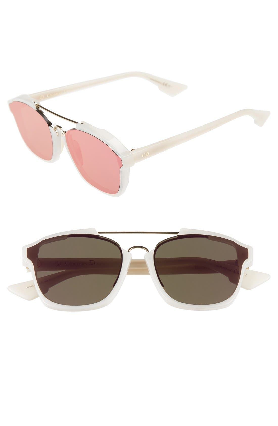 Dior Abstract 58mm Brow Bar Sunglasses