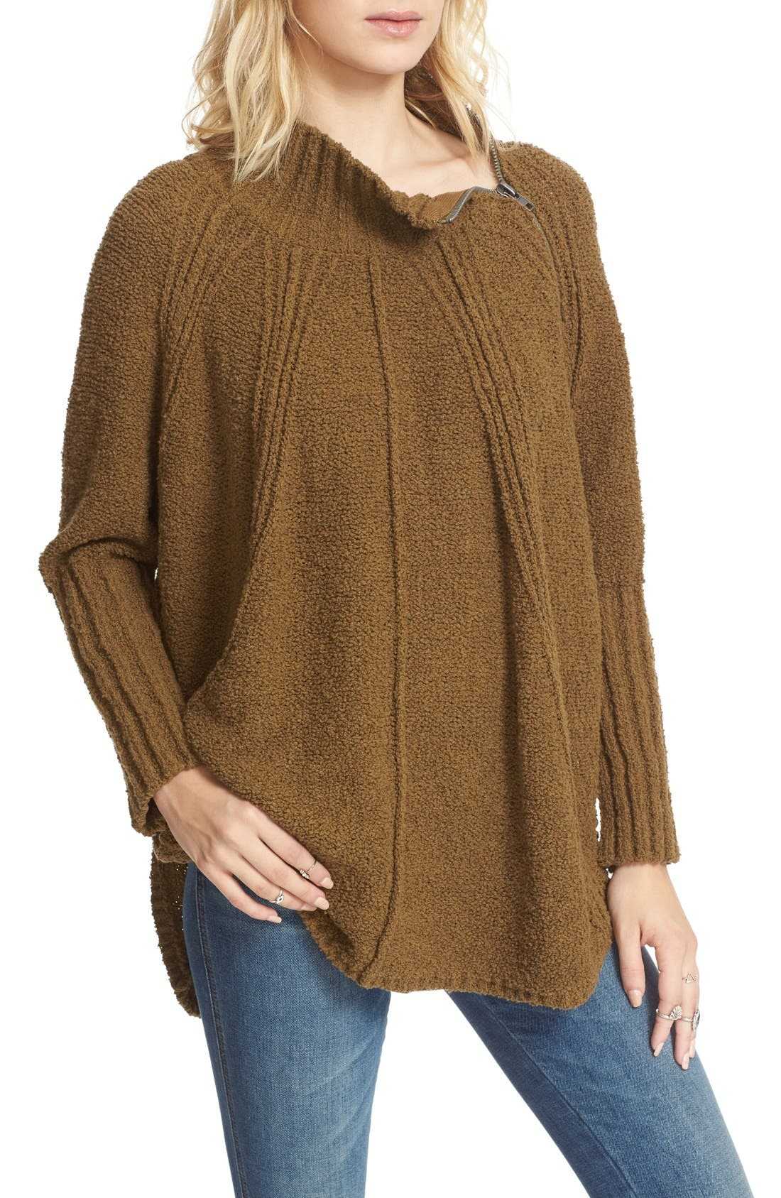 Alternate Image 1 Selected - Free People Spin Around Poncho Sweater