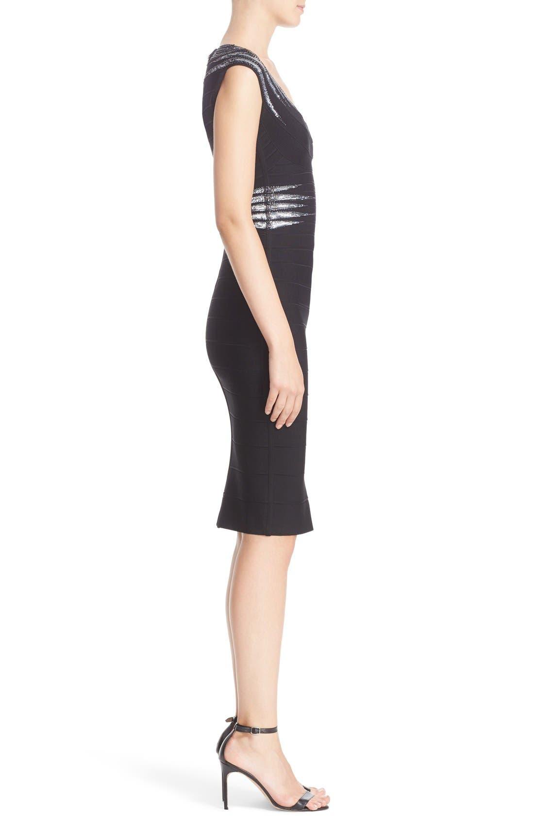Alternate Image 5  - Herve Leger 'Janelle' Sequin Embellished Bandage Dress