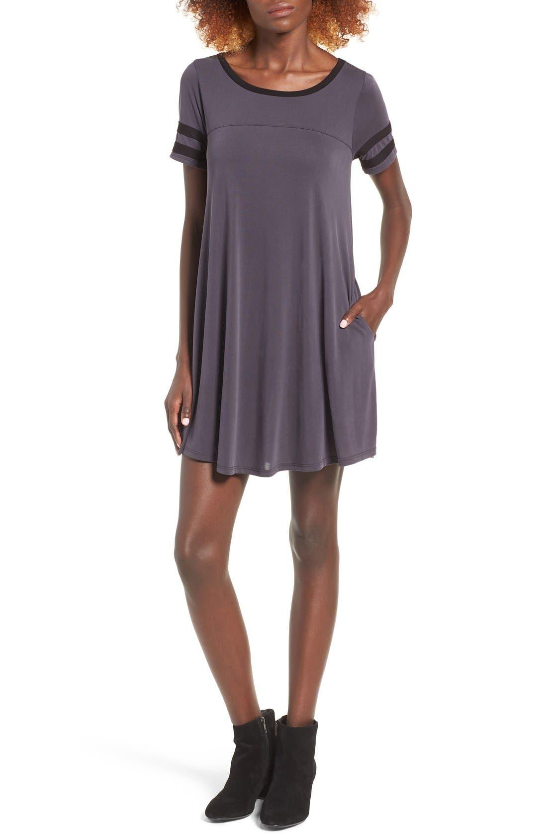 Alternate Image 1 Selected - Socialite Varsity T-Shirt Dress