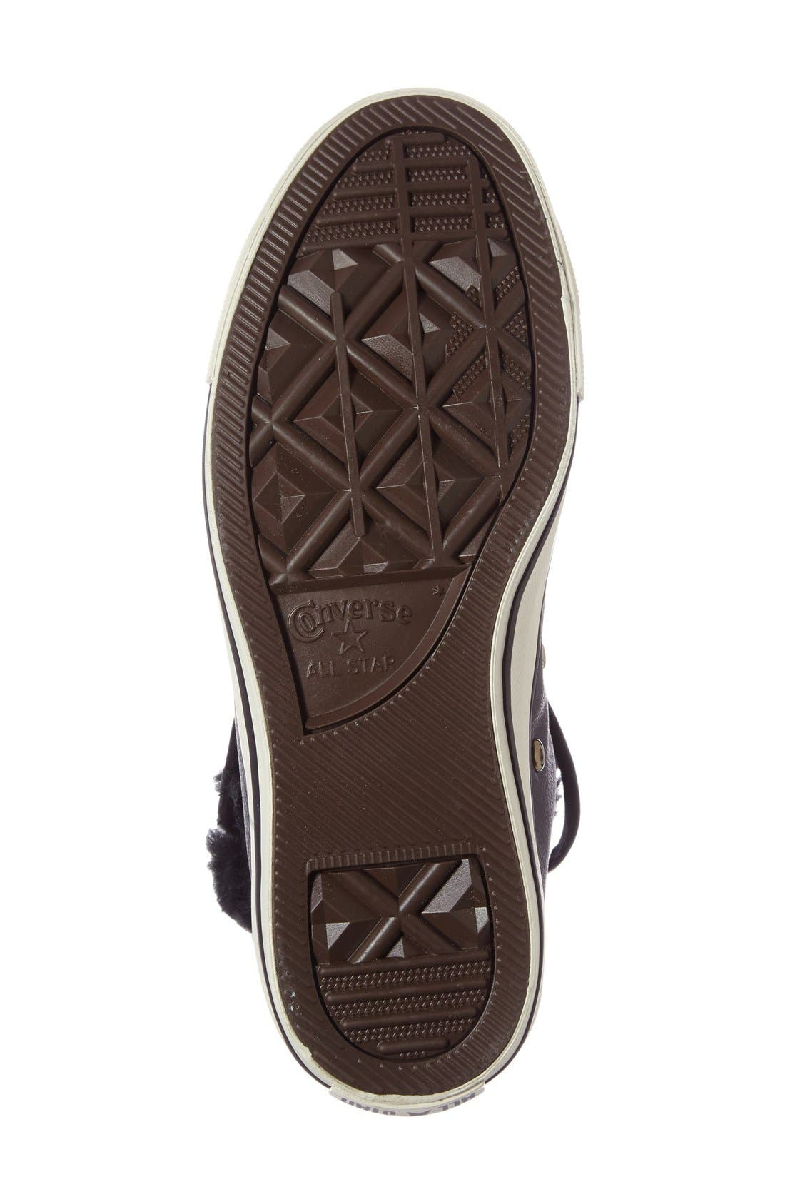 Alternate Image 4  - Converse Chuck Taylor® All Star® Faux Fur High Top Sneaker (Women)