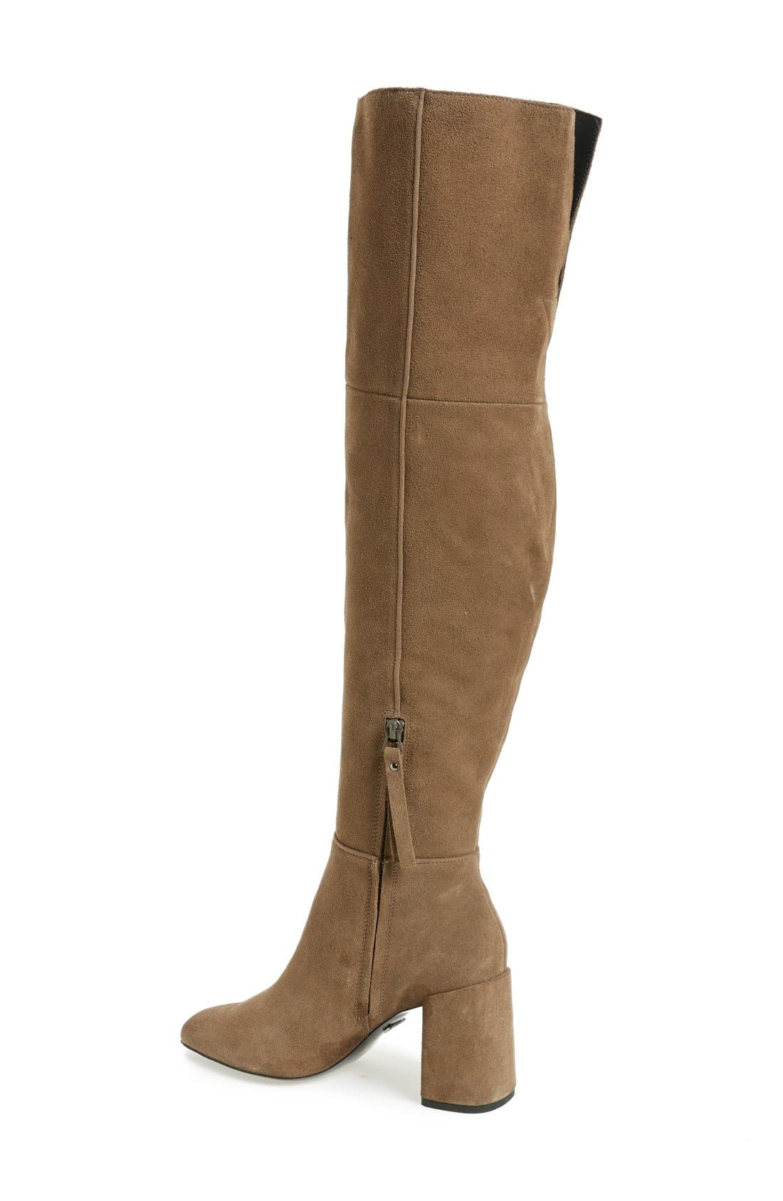 Alternate Image 2  - Topshop Bounty Pointy Toe Over the Knee Boot (Women)