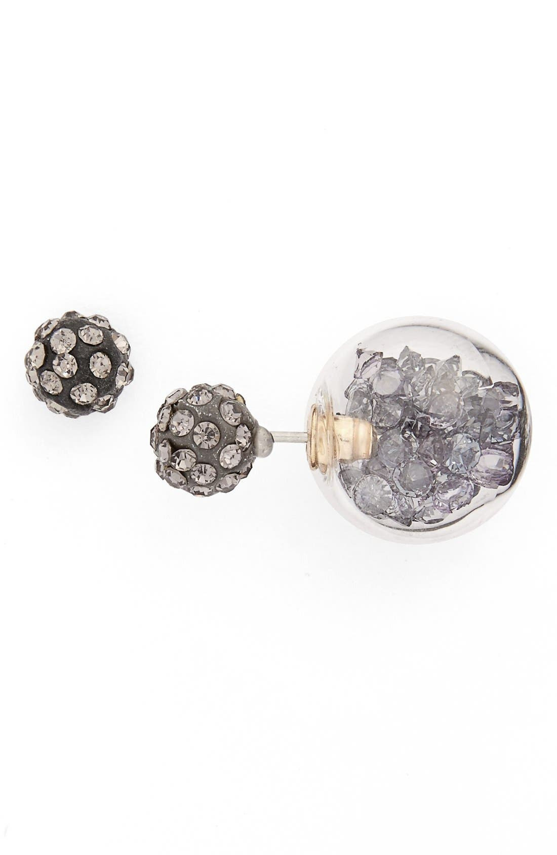 Alternate Image 1 Selected - Cara Crystal Front/Back Earrings