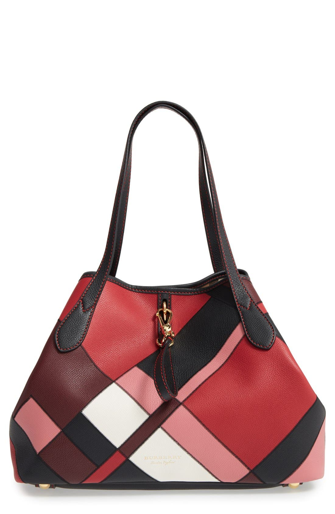BURBERRY Medium Honeybrook Patchwork Leather Tote